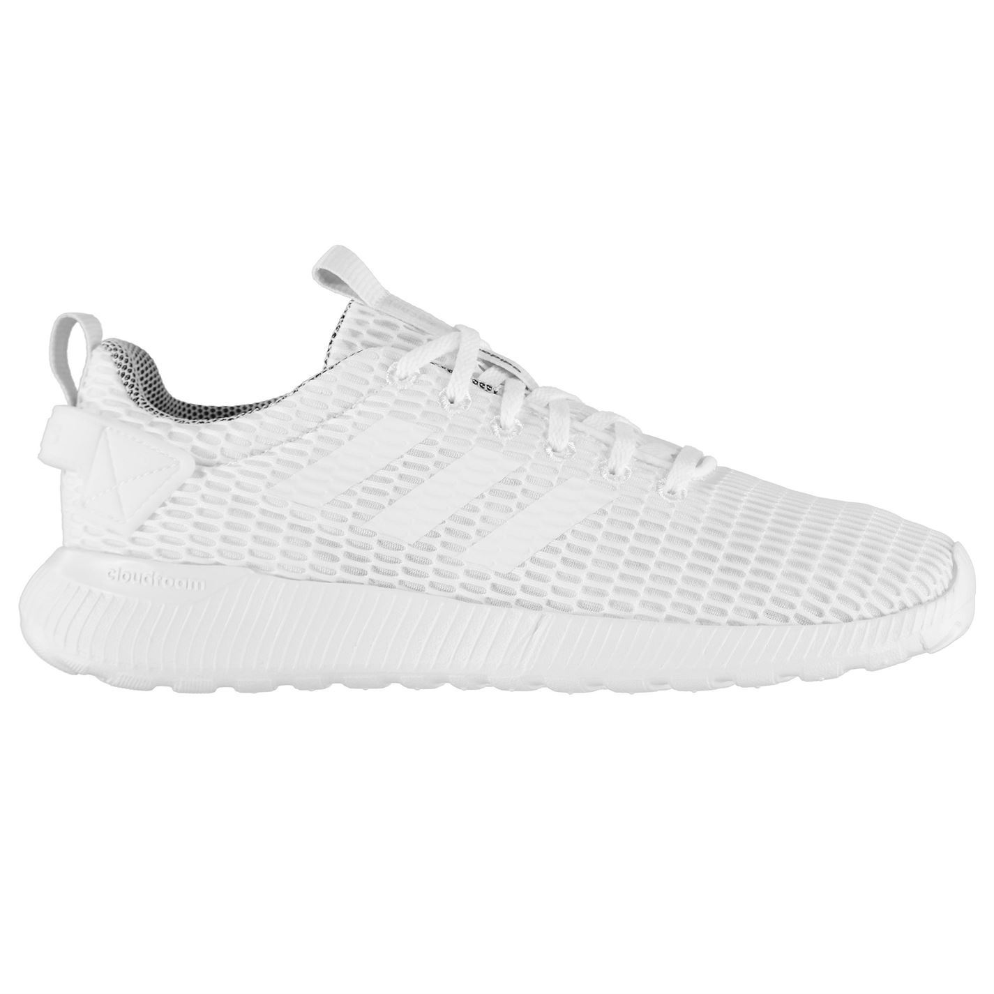 20e15795937f47 ... adidas Cloudfoam Lite Racer Trainers Mens White Sneakers Sports Shoes  ...