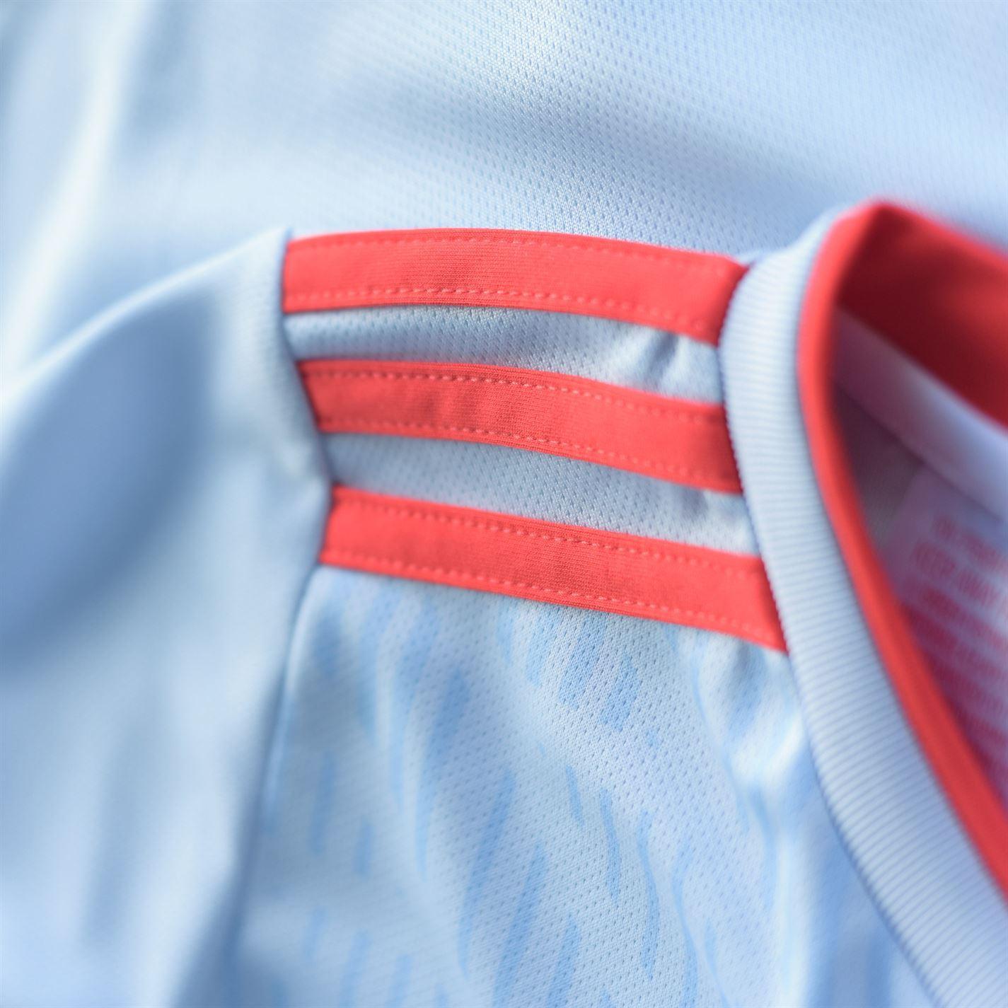 f40a02cbe1f adidas Spain Away Jersey 2018 Juniors Blue/Red Football Soccer Top Shirt  Strip