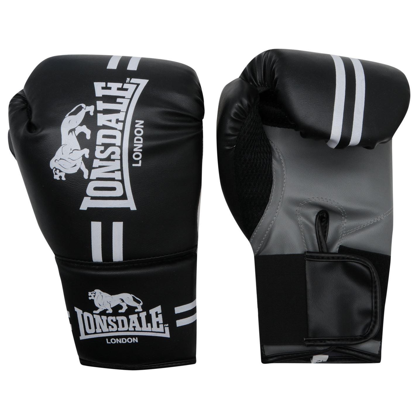 Lonsdale London Contender Bag Mitts Black//White Boxing Gloves Fitness Training