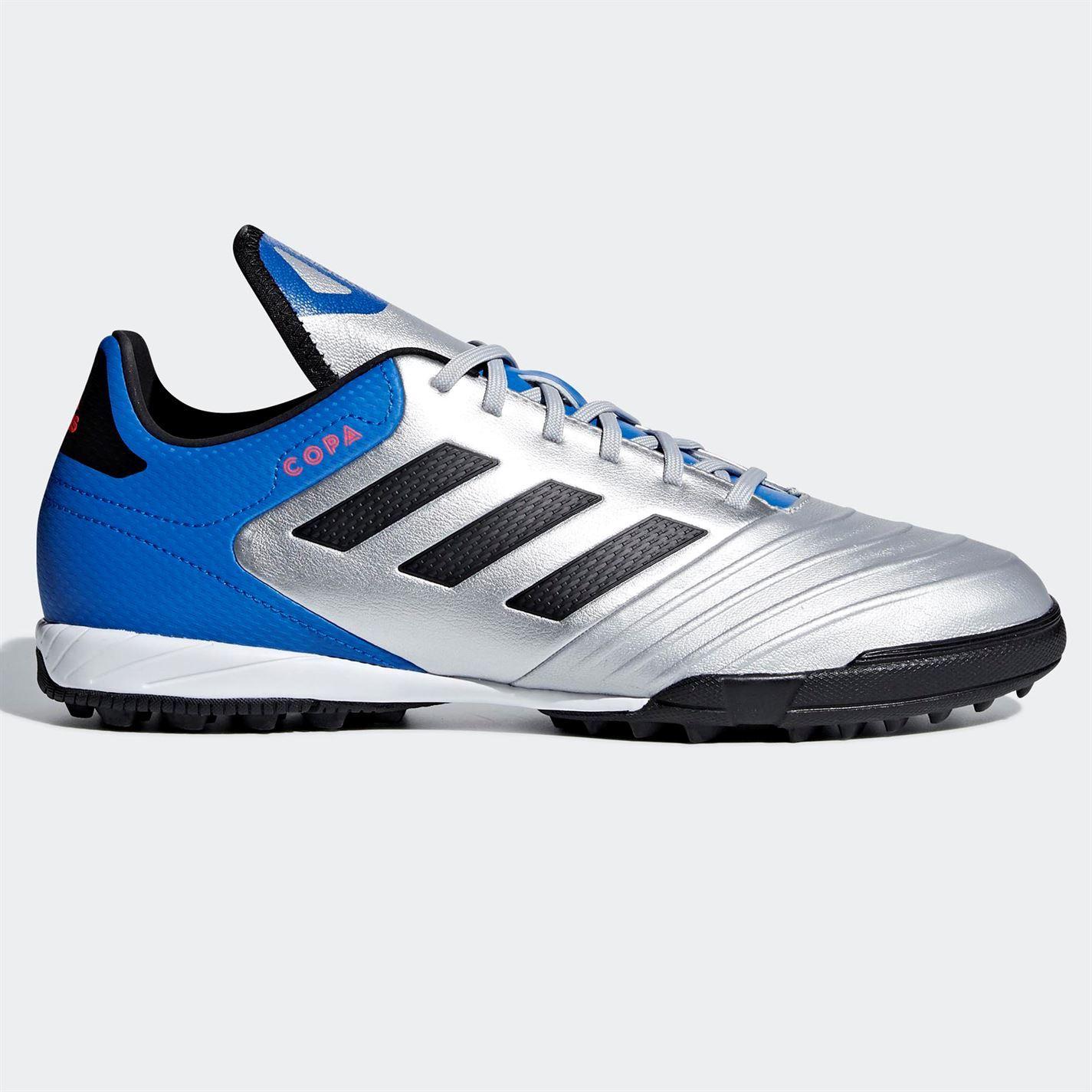 f1e312b0c11 ... adidas Copa Tango 18.3 Astro Turf Football Trainers Mens Silver Soccer  Shoes ...