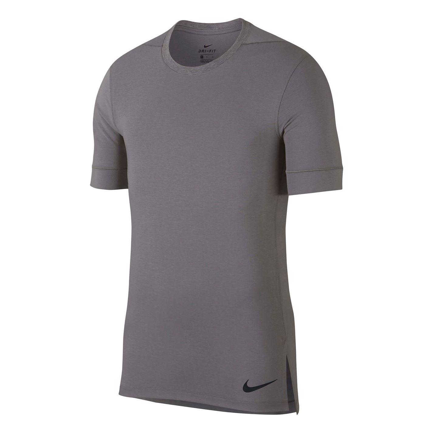 Dettagli su Nike Transcend Drifit T Shirt Allenamento Uomo Maglia T Shirt Fitness Nero S