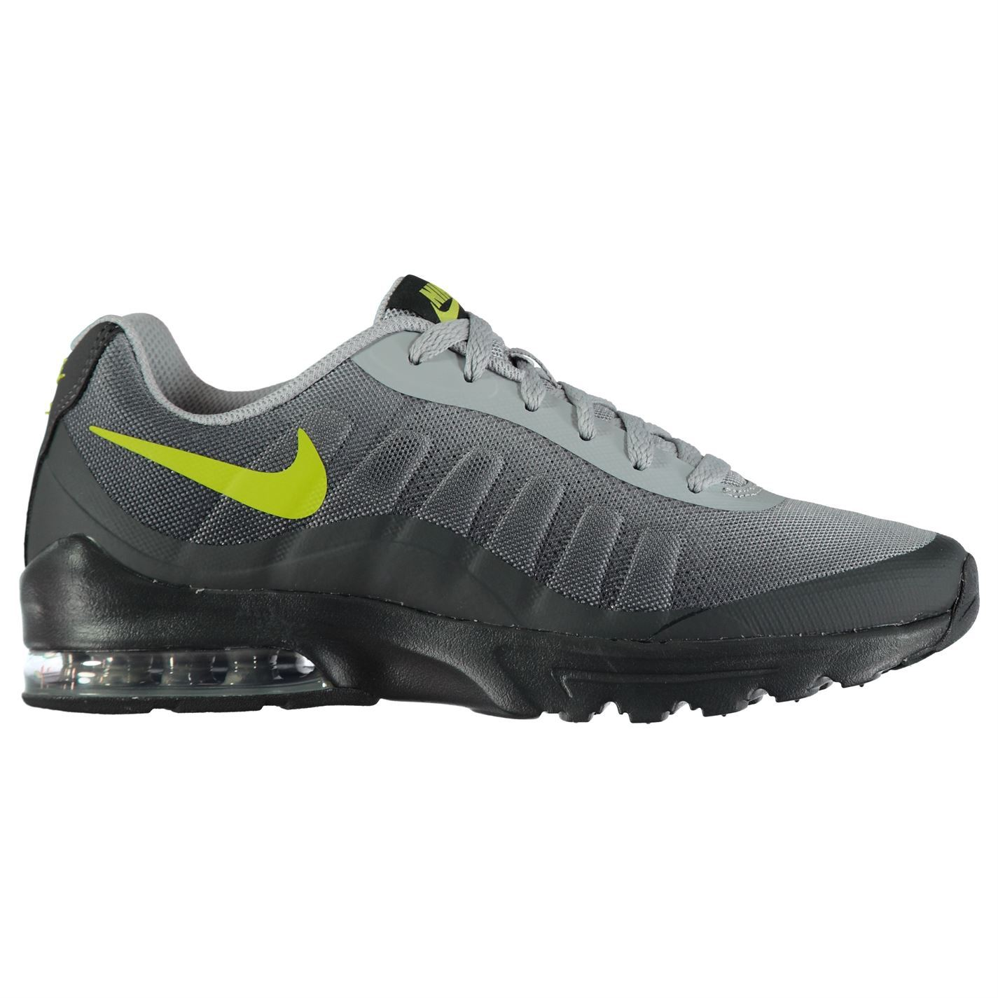 half off 7c6d8 104cf ... Nike Air Max Invigor Print Trainers Mens GreyVolt Athletic Sneakers  Shoes ...