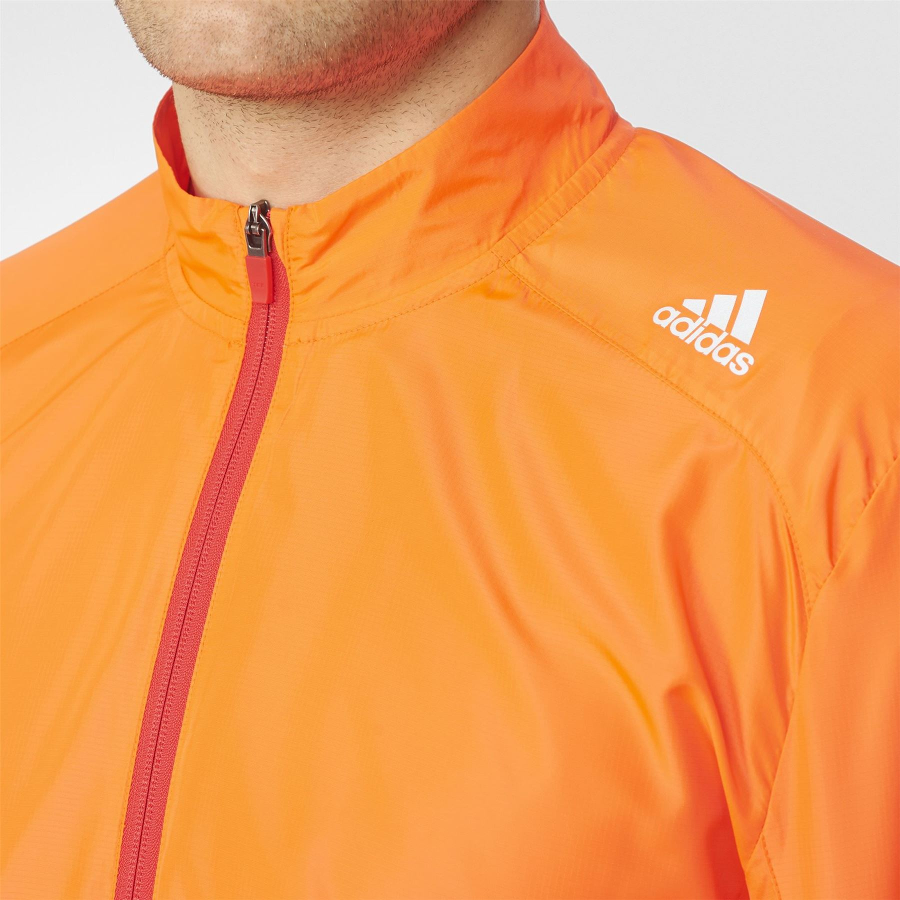 Details about adidas Response Wind Running Jacket Mens Red Run Jogging Track Zip Top