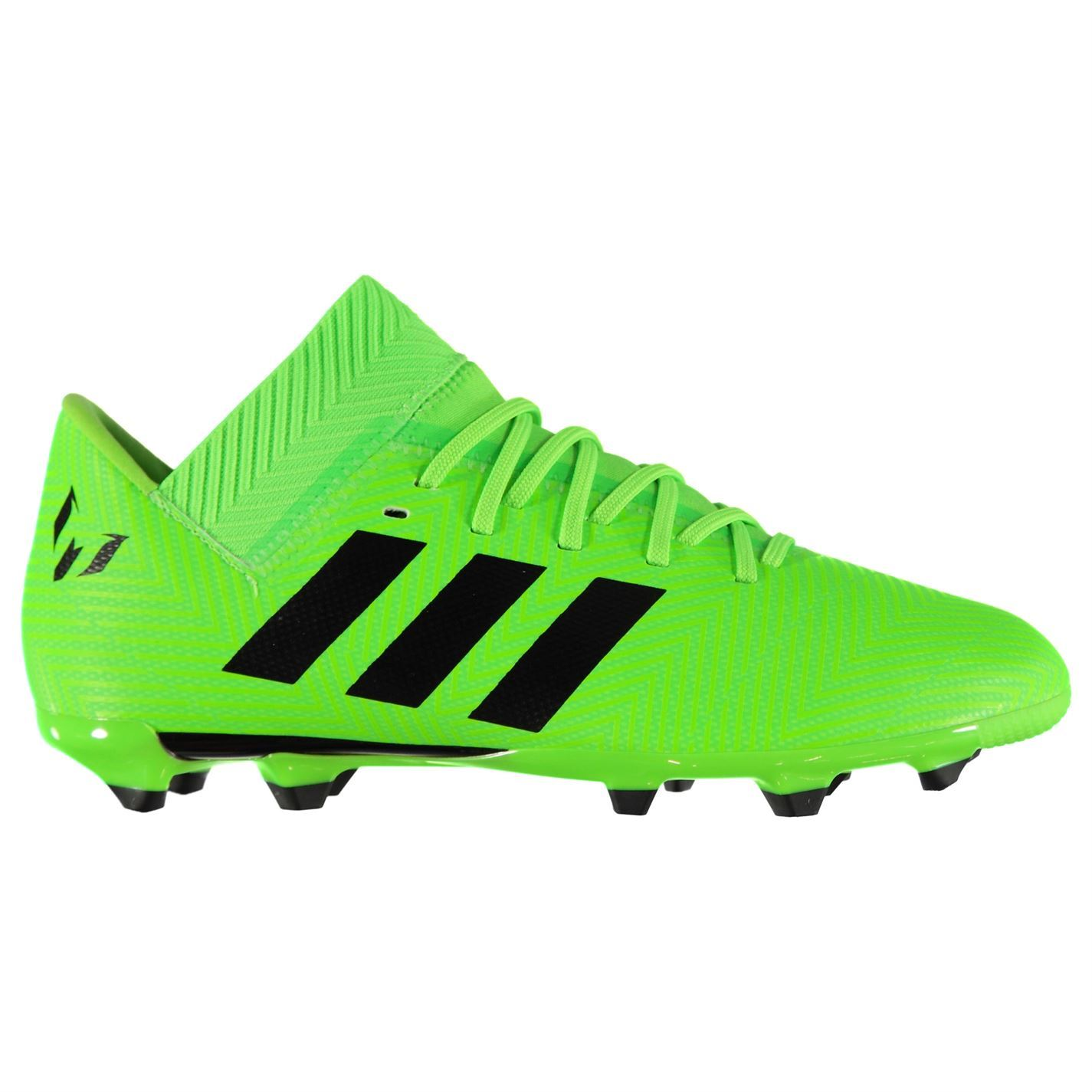 10296567 ... adidas Nemeziz Messi 18.1 Football Boots Firm Ground Juniors Green  Soccer Cleats ...