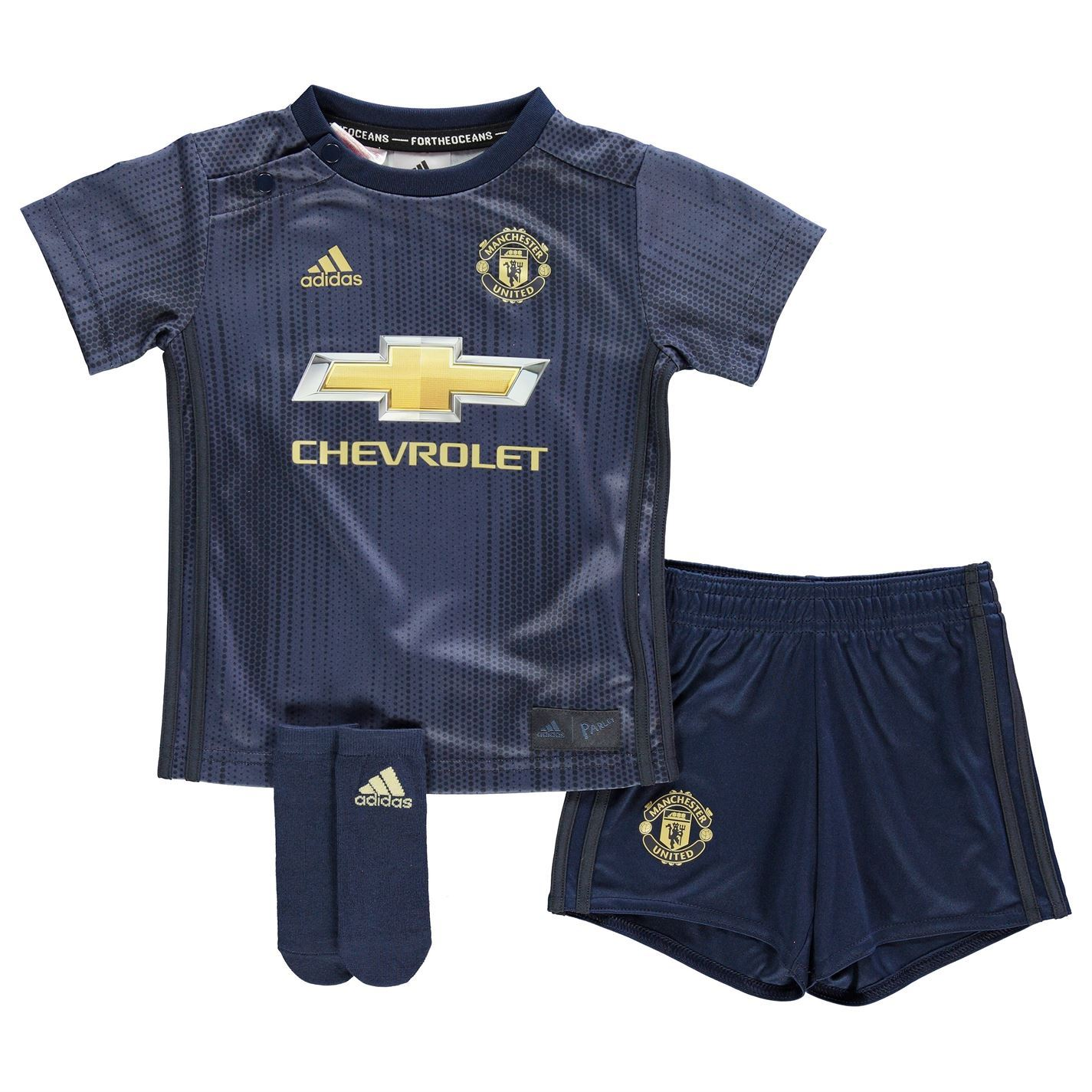 25aa04bb151 adidas Manchester United 3rd Baby Kit 2018 19 Infants Navy Football Soccer  Strip