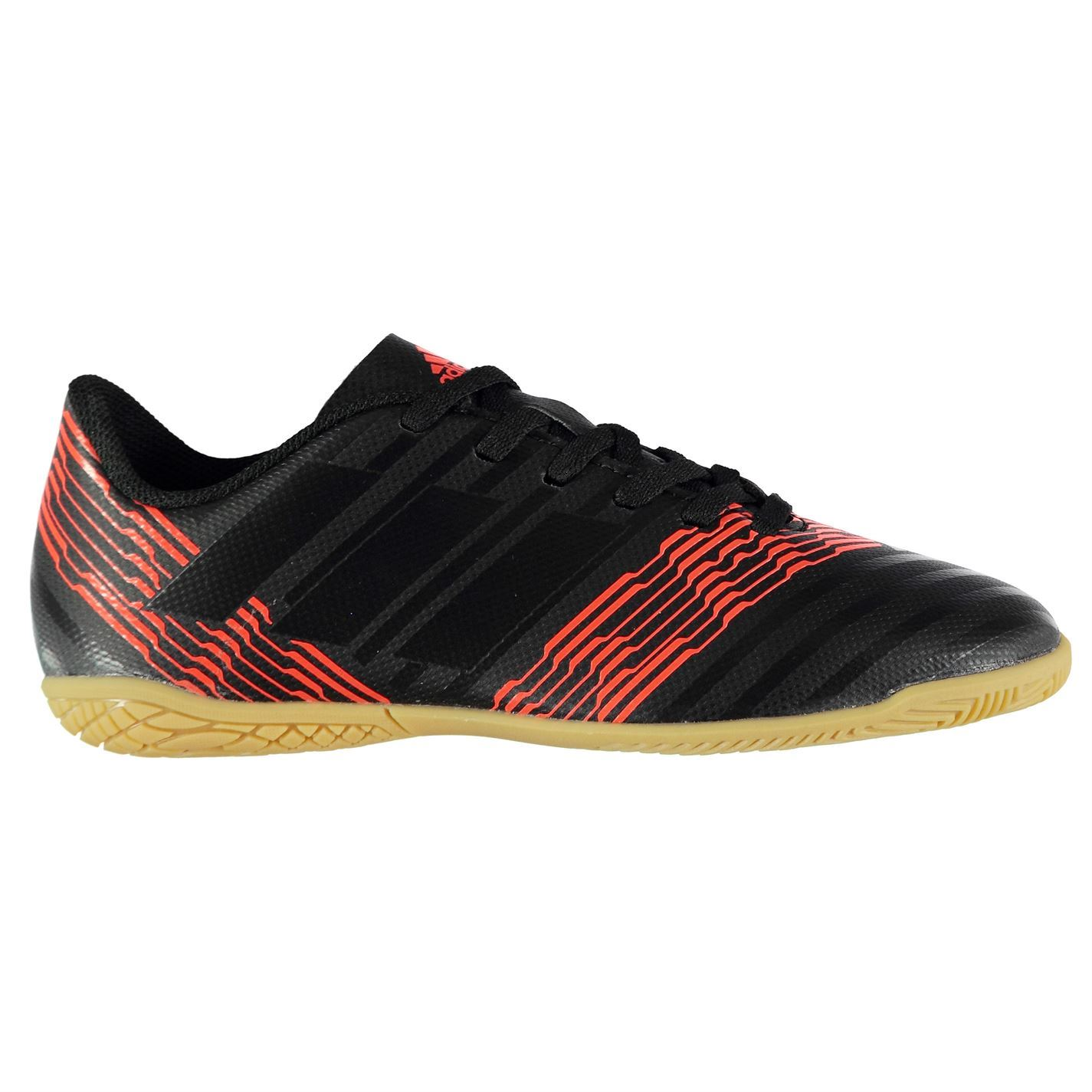 013e1a8e1e1 ... adidas Nemeziz Tango 17.4 Indoor Football Trainers Childs Black Soccer  Shoes ...