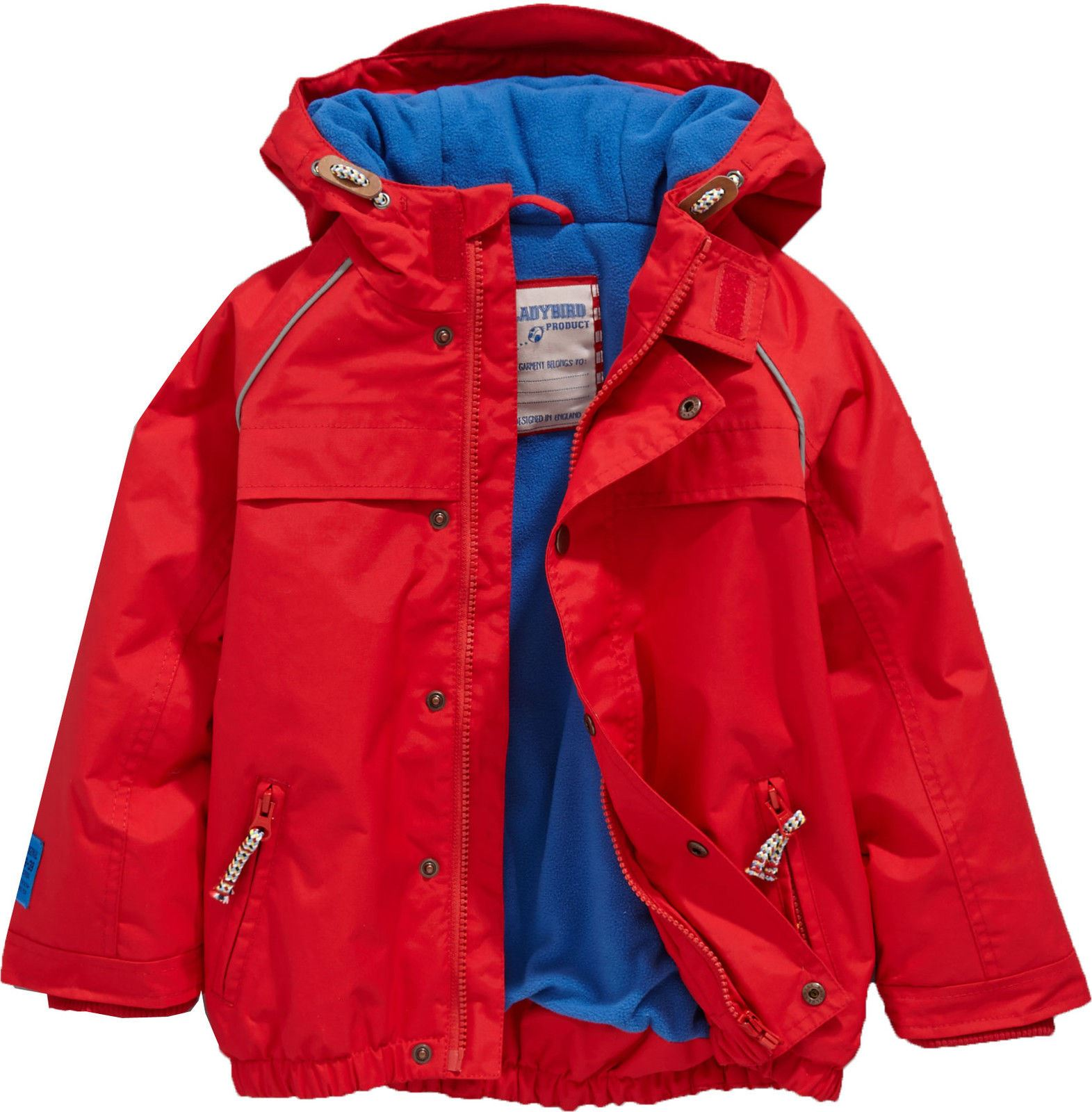 Ladybird Toddler Performance Jacket Infants Red Baby Coat Outerwear