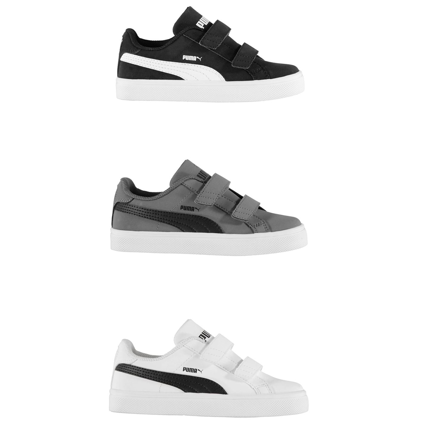 Details about Puma Smash Vulc Trainers Childs Boys Shoes Sneakers Kids Footwear