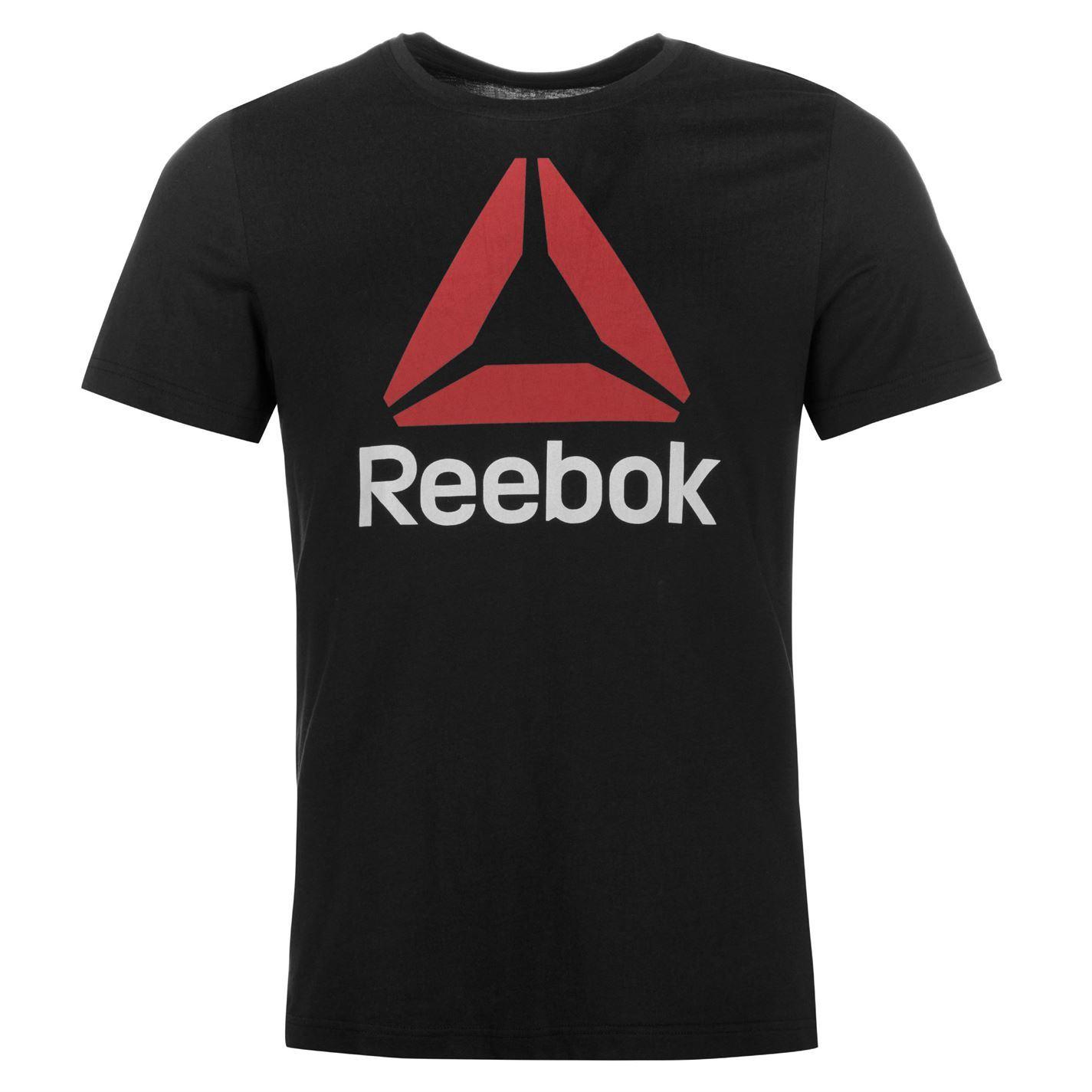 Reebok-Stack-Delta-Logo-T-Shirt-Mens-Tee-Shirt-Top thumbnail 3