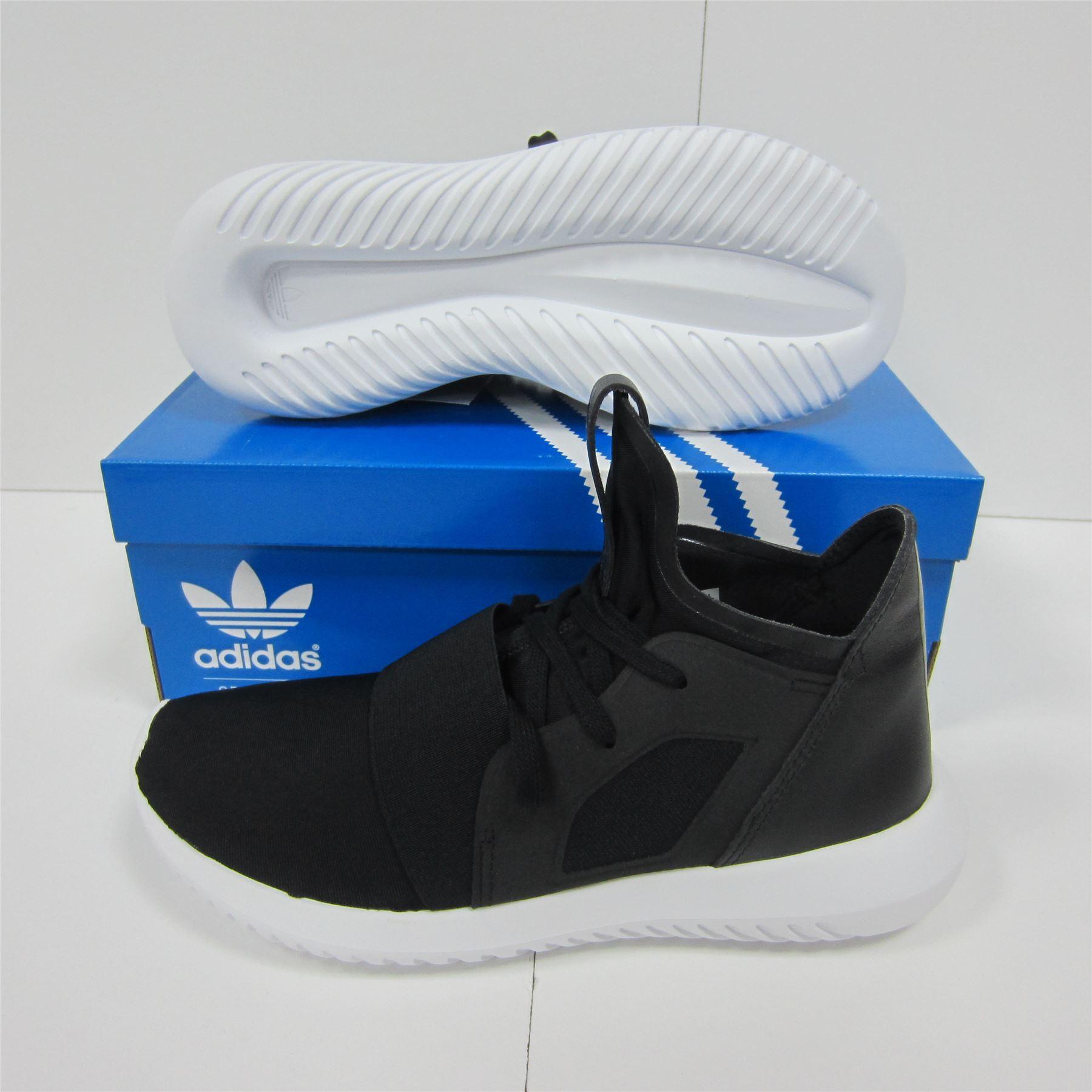 Détails sur Adidas Tubulaire Defiant Baskets Femmes NoirBlanc Chaussures Baskets Chaussures