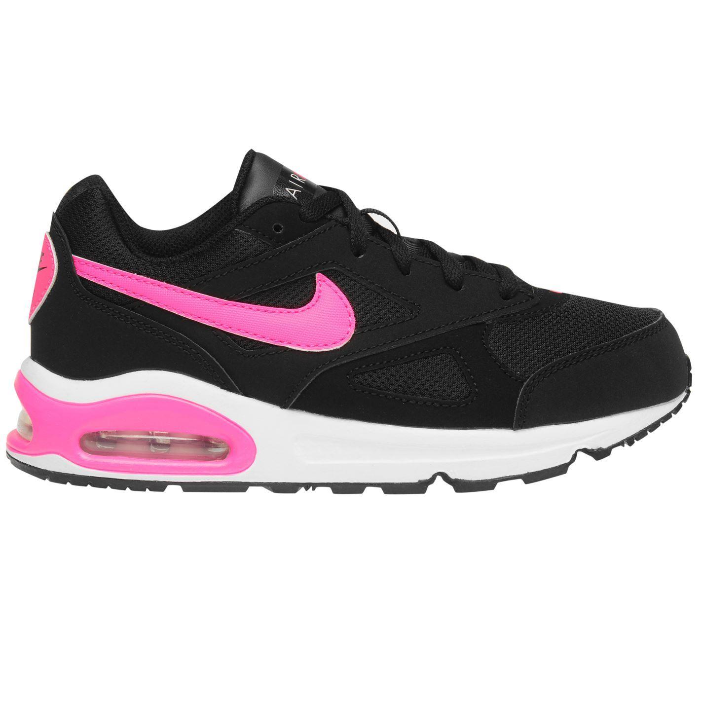 Détails sur Nike Air Max Ivo Baskets Fille Noir/Rose Chaussures
