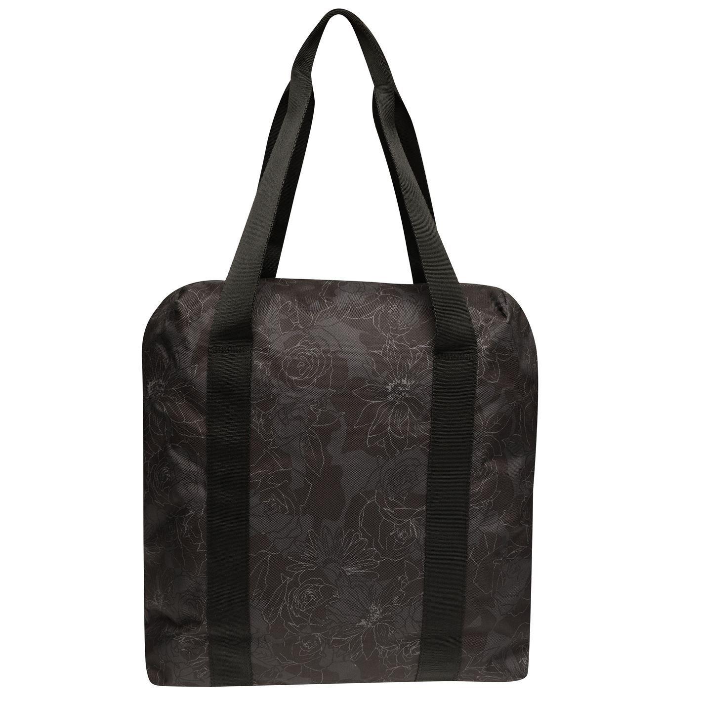 941461a65e Details about adidas Fav Floral Tote Bag Womens Black Grey Holdall Handbag  Shopper Bag