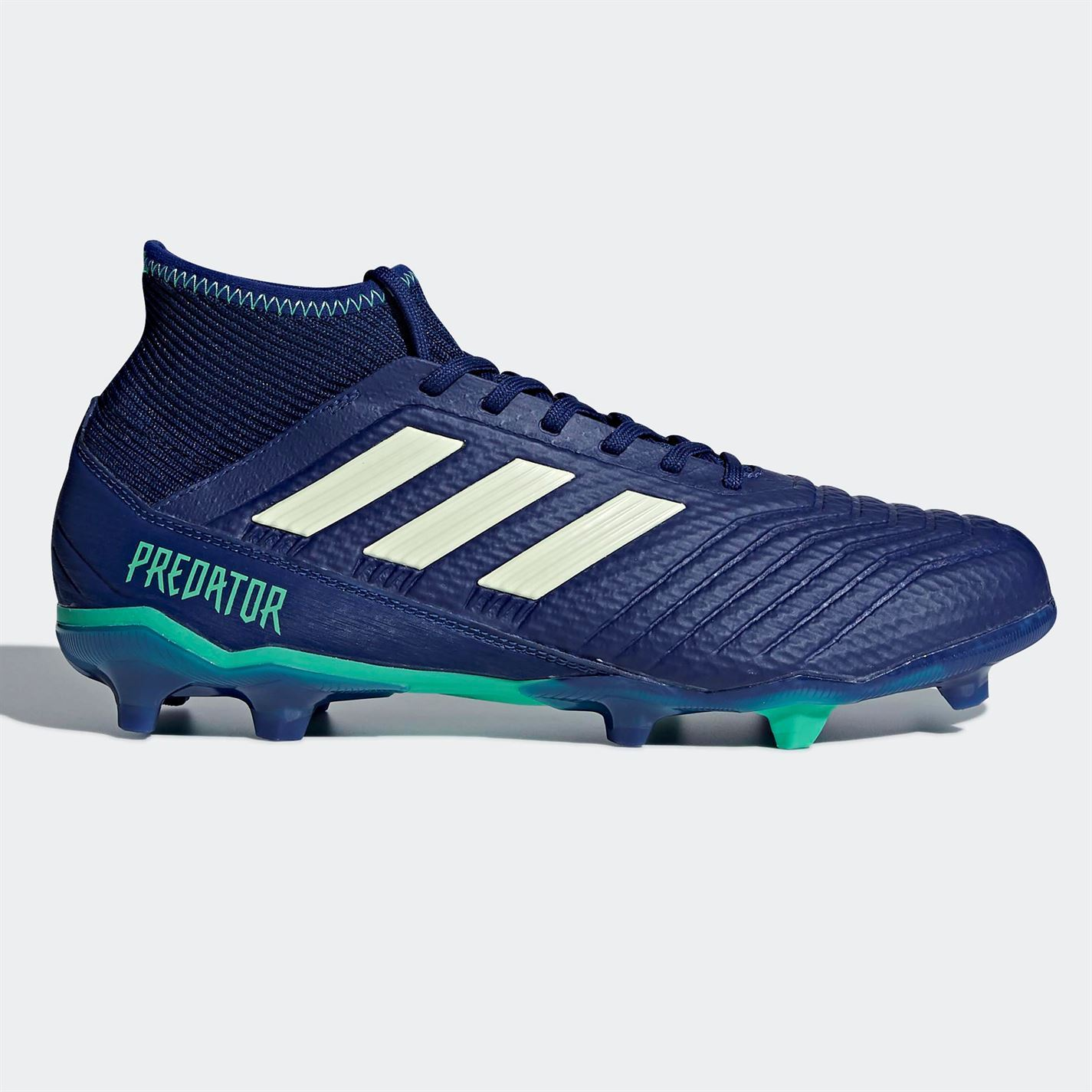 221d64ab6 ... adidas Predator 18.3 FG Firm Ground Football Boots Mens Blue Soccer Shoes  Cleats ...