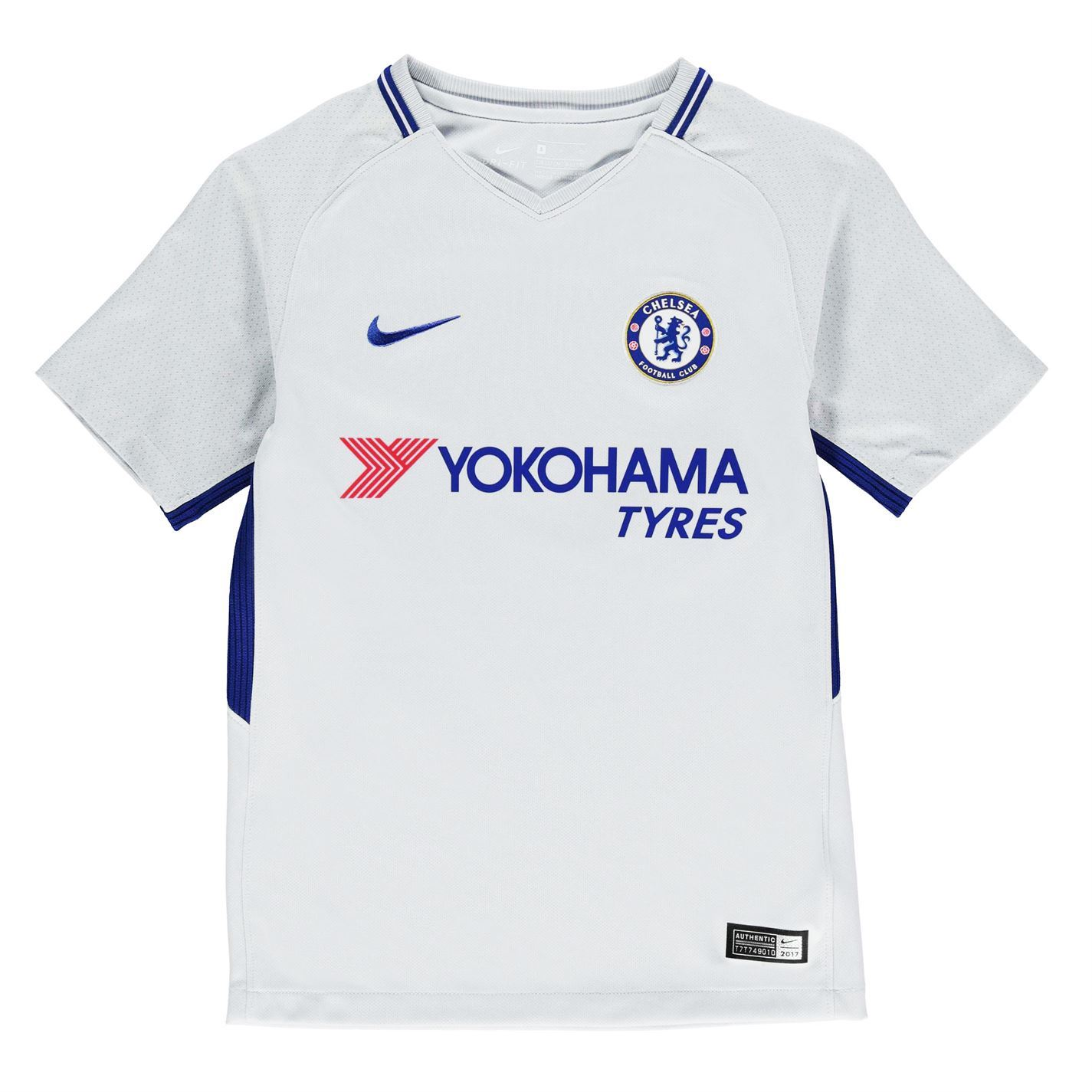 sale retailer c6f23 8dffc Details about Nike Chelsea Away Jersey 2017 2018 Juniors White Football  Soccer Fan Shirt Top