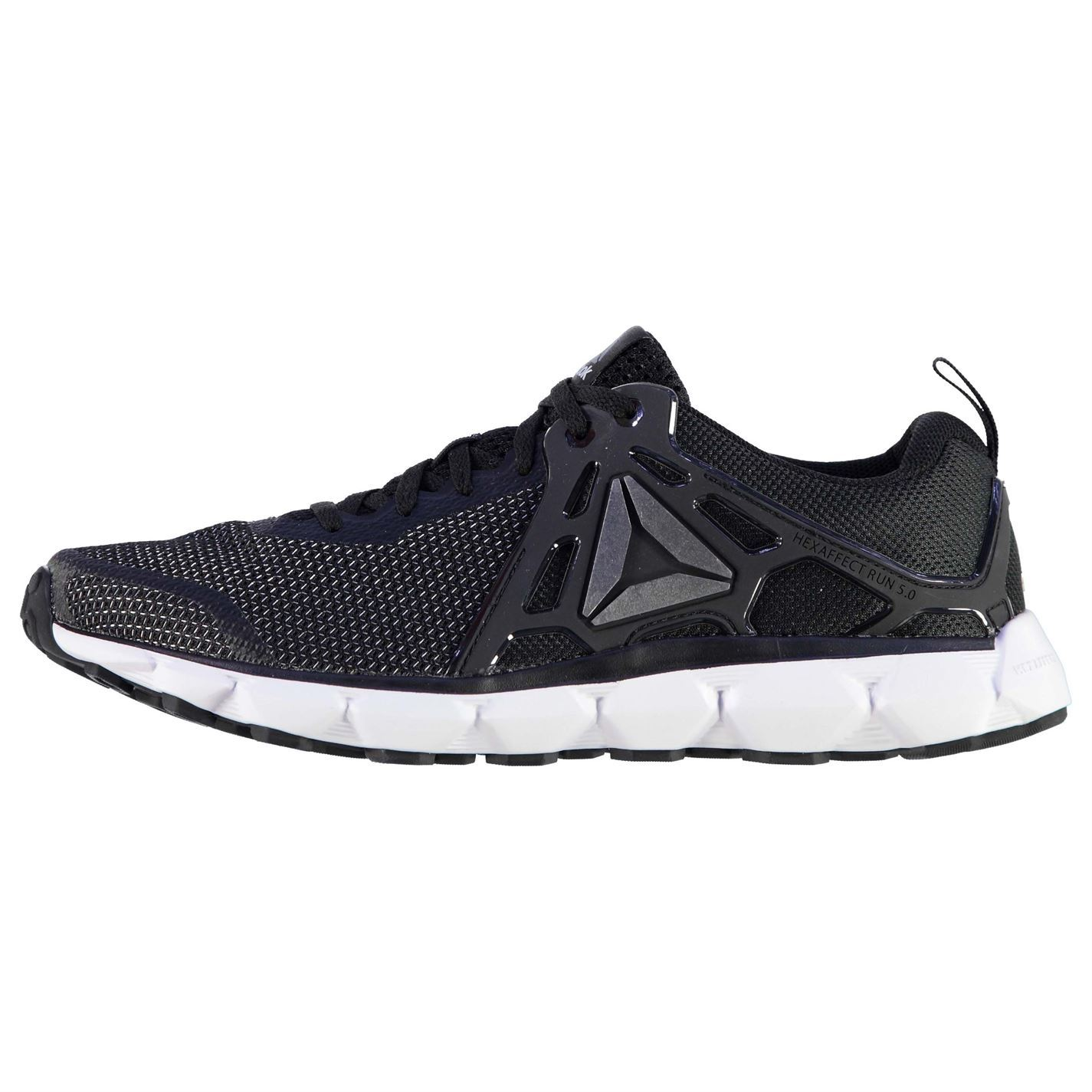 ... Reebok Hex Affect Running Shoes Mens Black White Trainers Sneakers  Sports Shoes ... 637f342c8