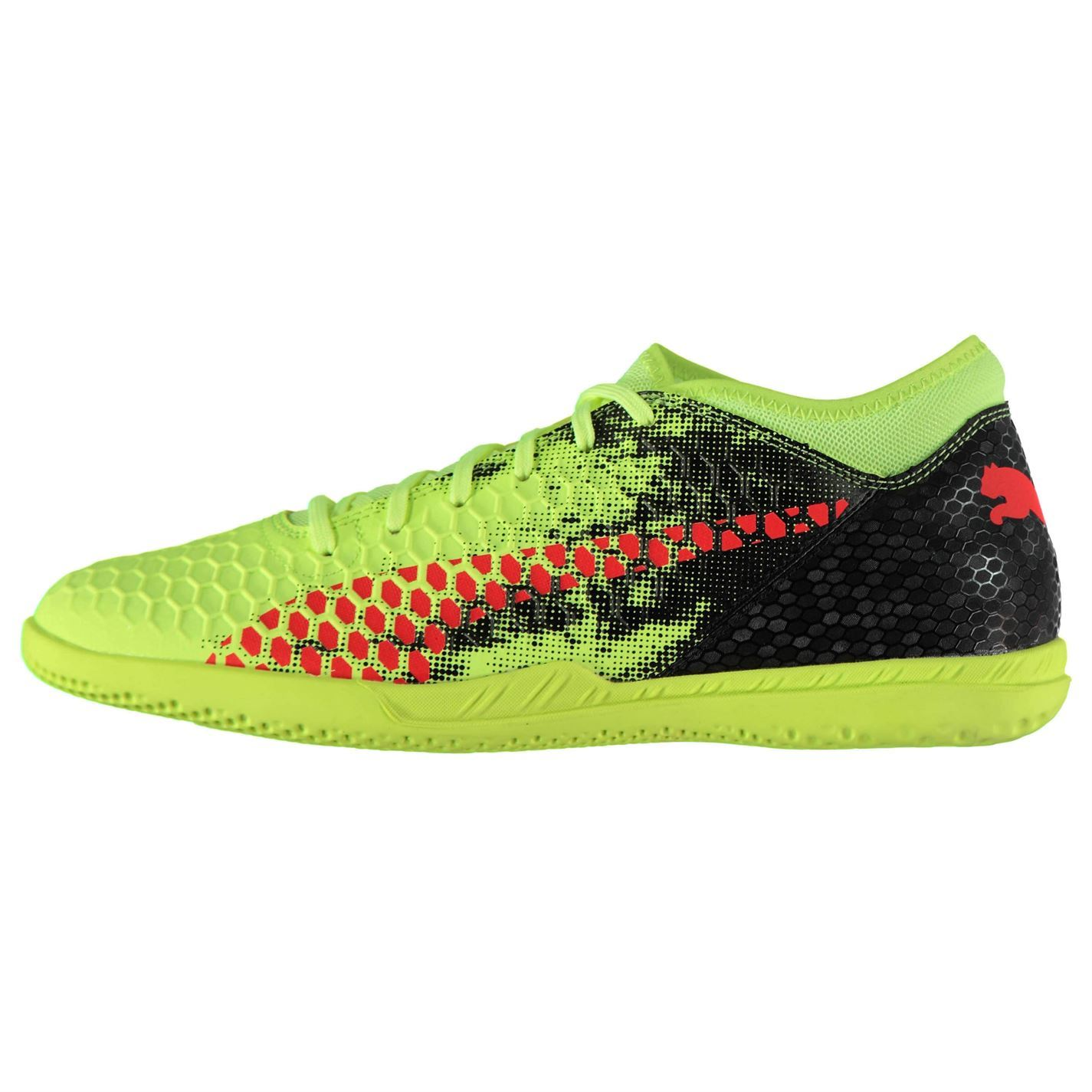 ... Puma Future 18.4 Indoor Football Trainers Mens Yellow Red Black Soccer  Shoes ... 0d68eeadd