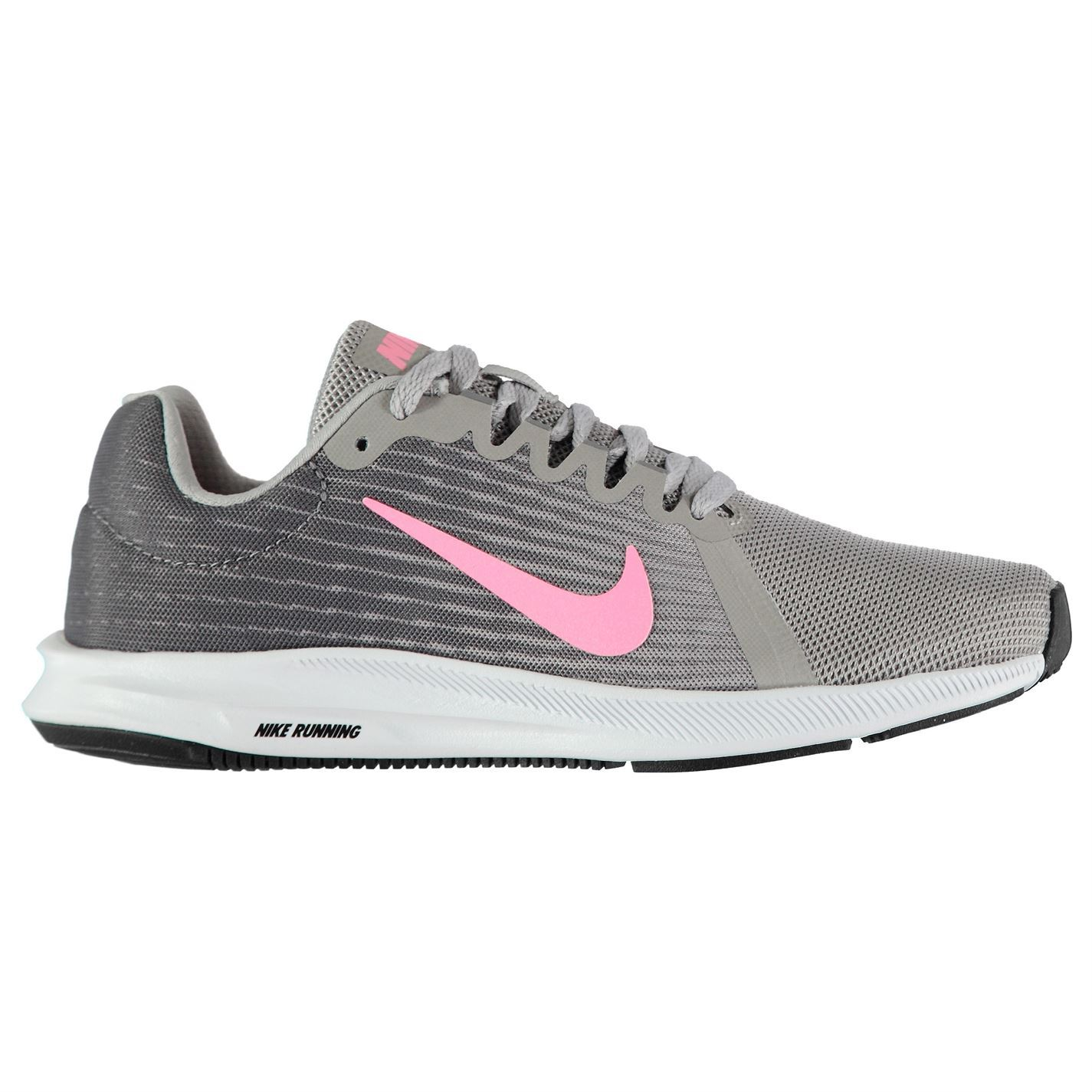 f0a1b4442ffc8 ... Nike Downshifter 8 Running Shoes Womens Grey/Pink Run Jogging Trainers  Sneakers ...