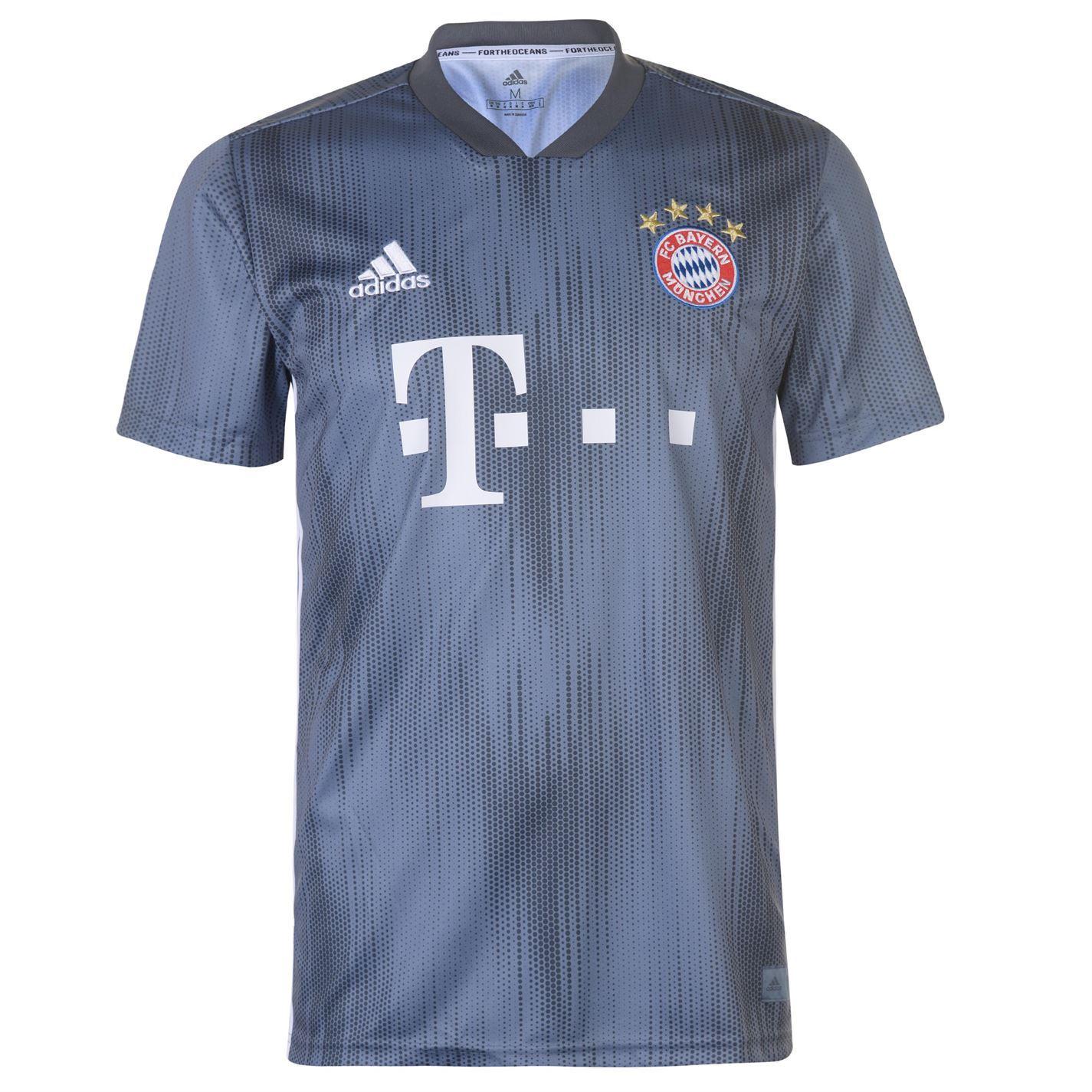 bc944d9b ... adidas Bayern Munich Third Jersey 2018 2019 Mens Grey Football Soccer  Shirt Top ...