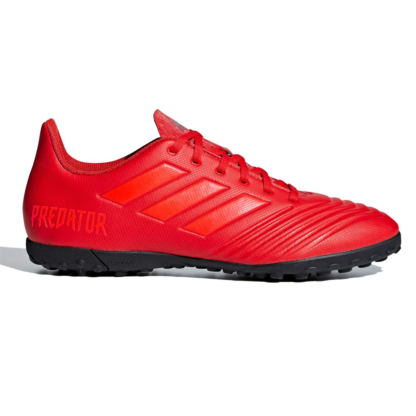 reputable site 379f4 d1e84 Details about adidas Predator 19.4 Astro Turf Football Trainers Mens Red  Soccer Shoes Sneakers