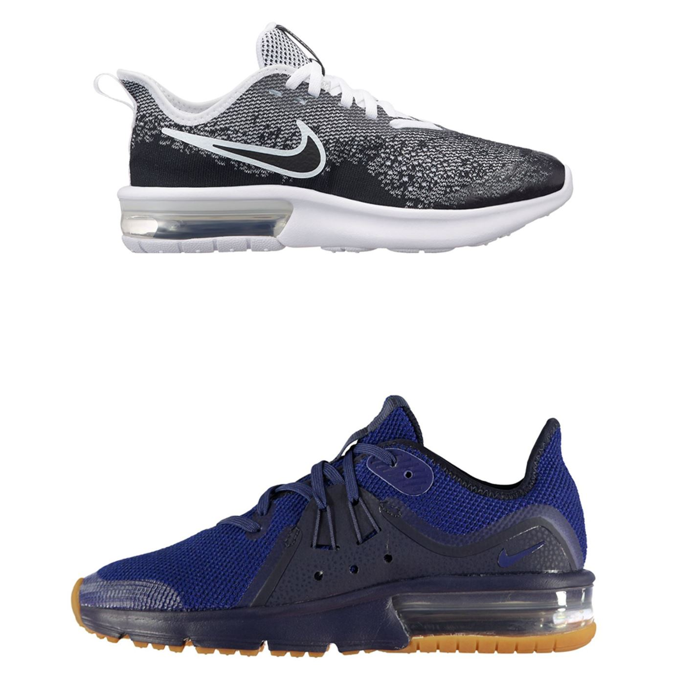 buy popular 21110 eac96 Details about Nike Air Max Sequent 4 Junior Boys Trainers Shoes Footwear