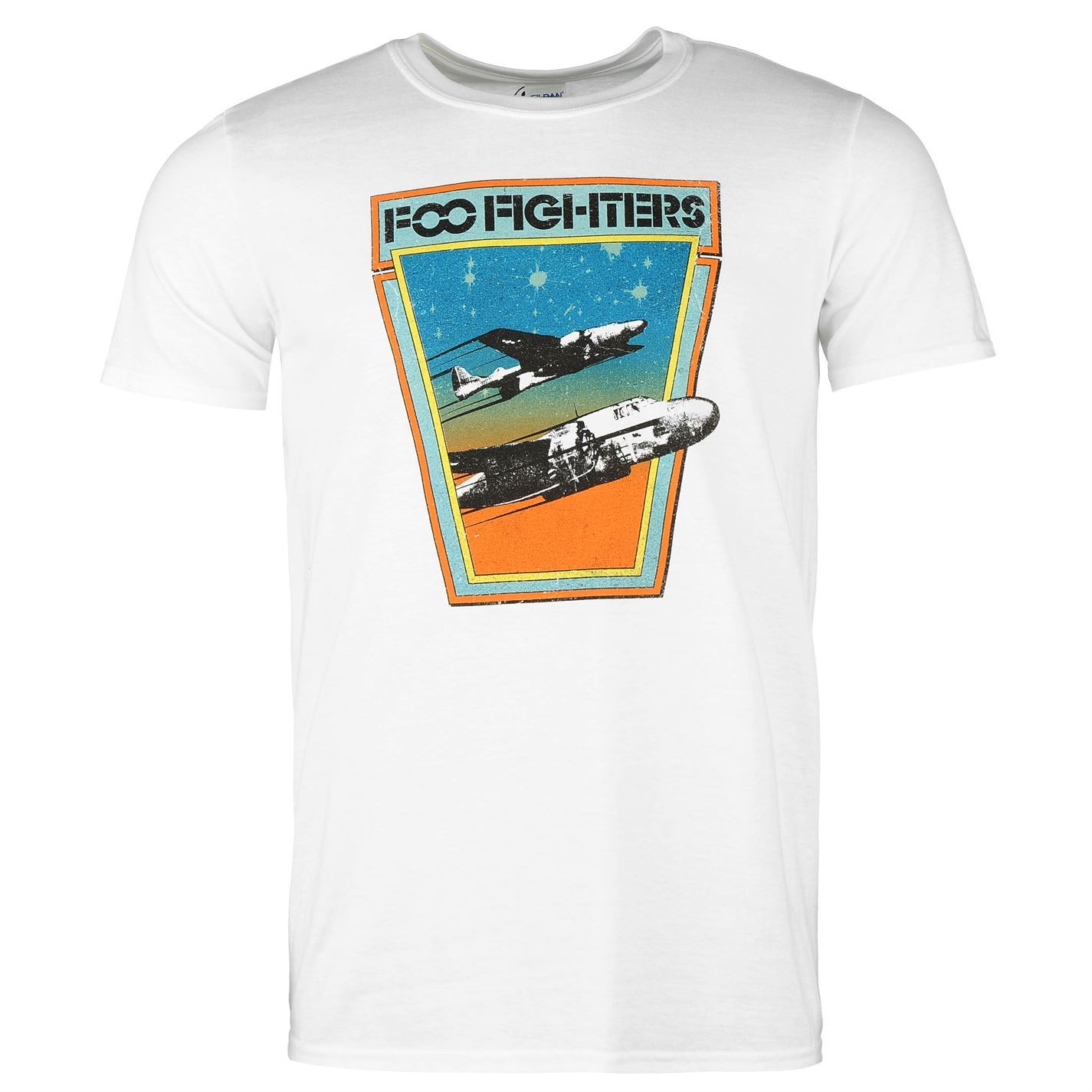 6cc1901c5af1 Details about Foo Fighters Jets T-Shirt Mens White Casual Wear Top Tee Shirt