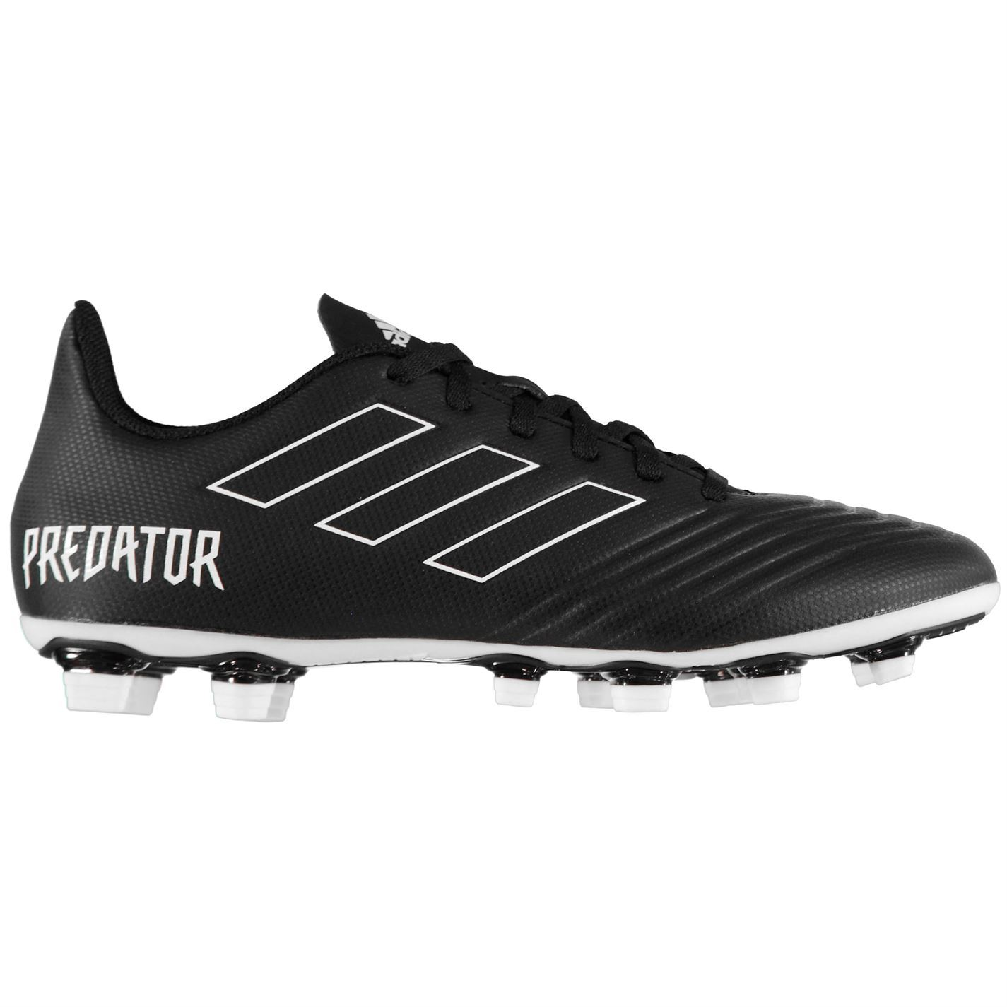... adidas Predator 18.4 FG Firm Ground Football Boots Mens Black Soccer  Shoe Cleats ... 495969db6