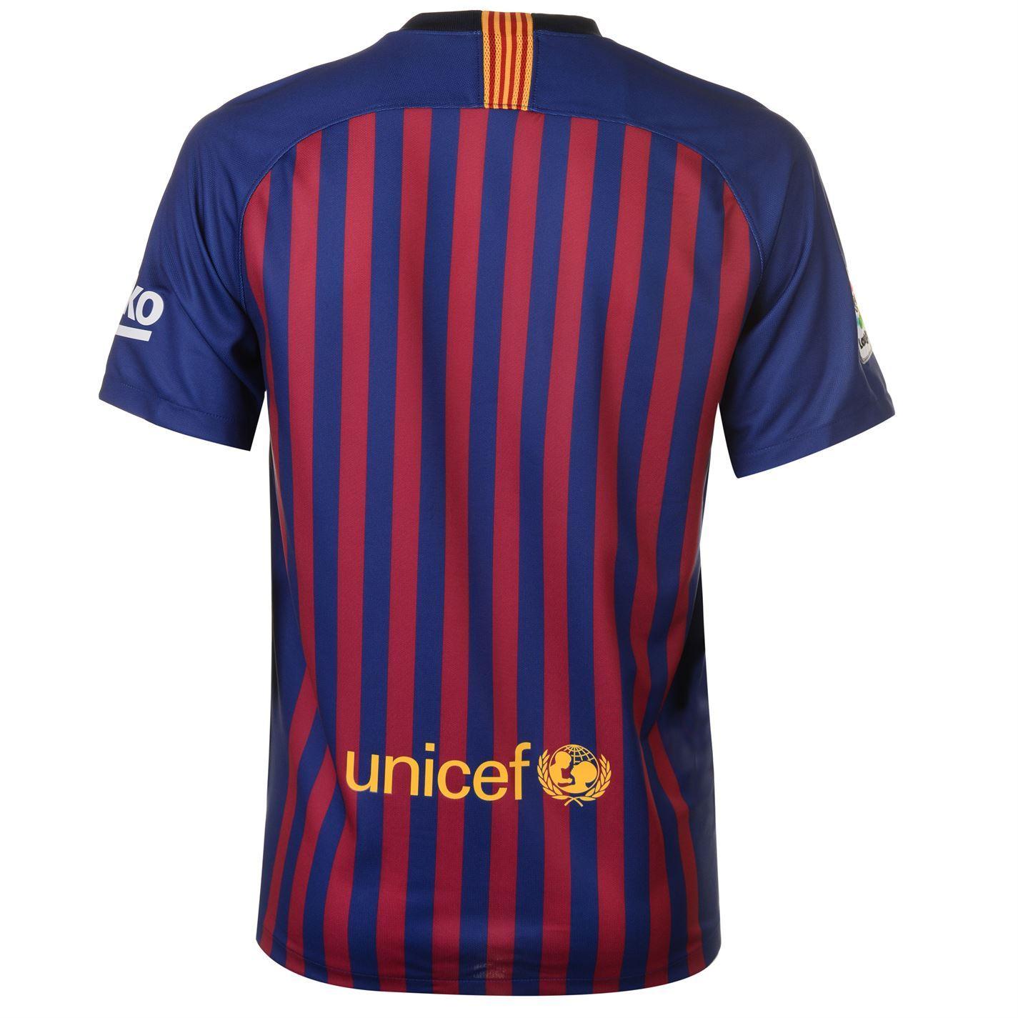 73ec142283d ... Nike Barcelona Home Jersey 2018 2019 Mens Blue Football Soccer Fan Shirt  Top ...