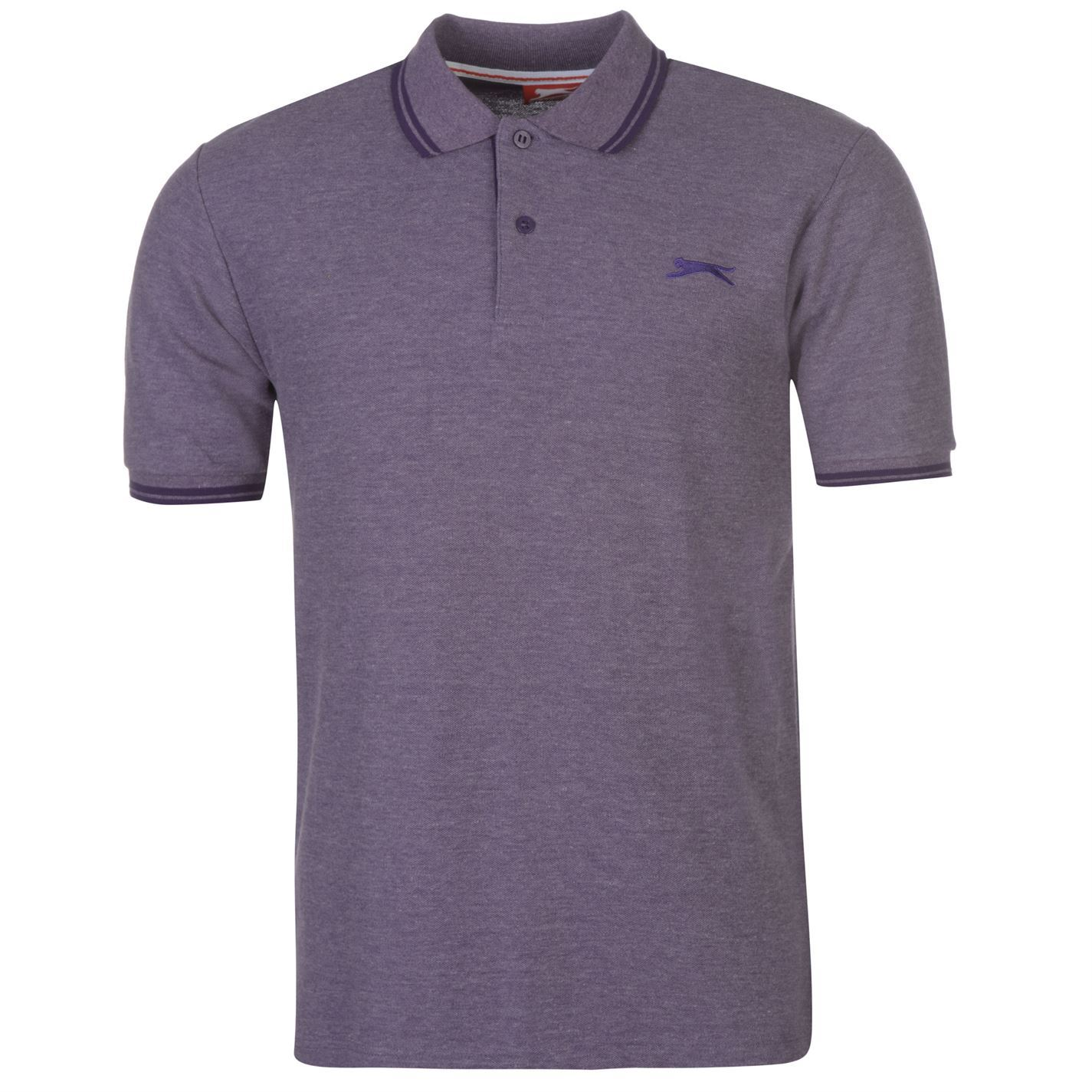 Slazenger-Polo-Camisa-de-hombre-con-cuello-con-Punta-T-Shirt-Top-Camiseta-Tee miniatura 94