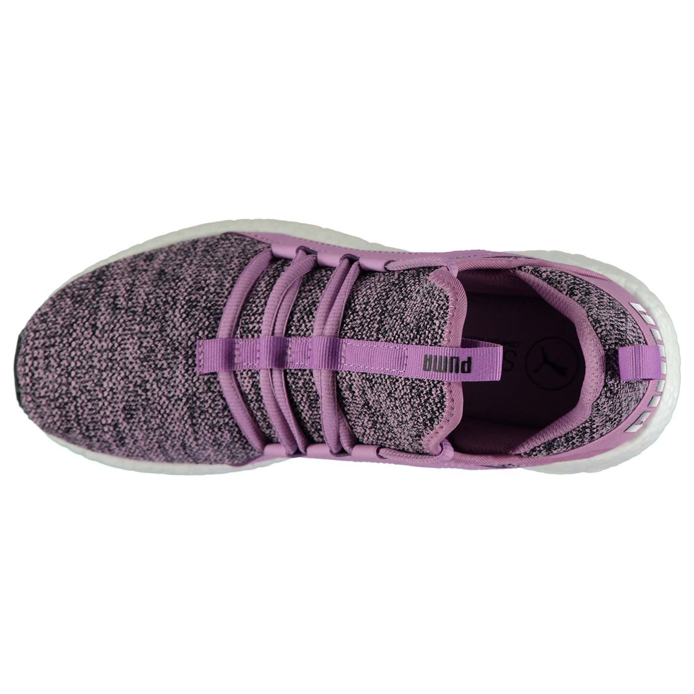 cf6f846bbd6285 ... Puma Mega NRGY Knit Running Shoes Womens Purple Run Jogging Trainers  Sneakers