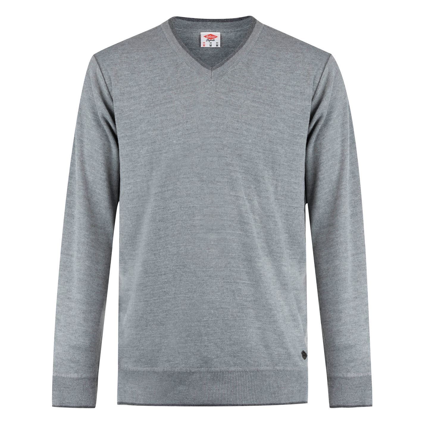 Lee-Cooper-Cuello-en-V-sueter-pulover-jumper-Top-Para-Hombre miniatura 9
