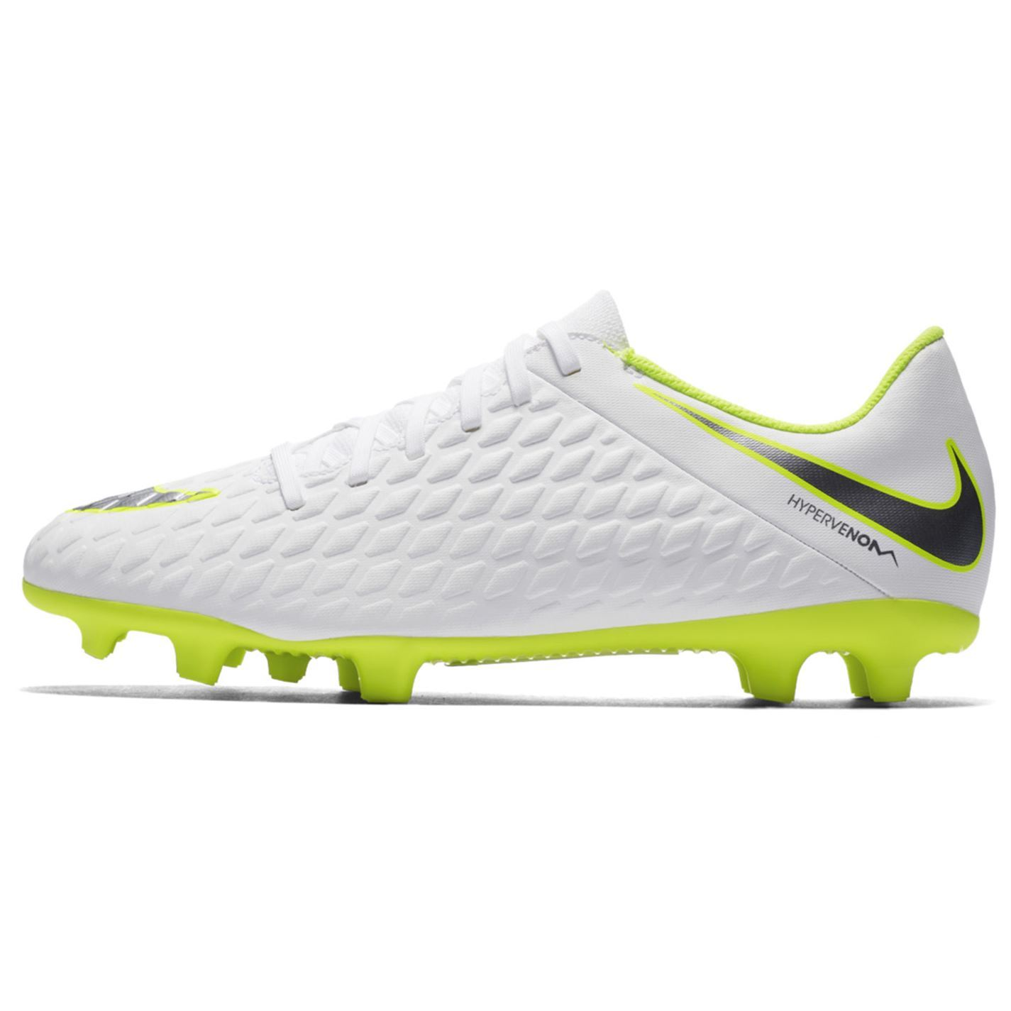 2a7422c9abc8 ... Nike Hypervenom Phantom Club Firm Ground Football Boots Mens White  Soccer Cleats ...