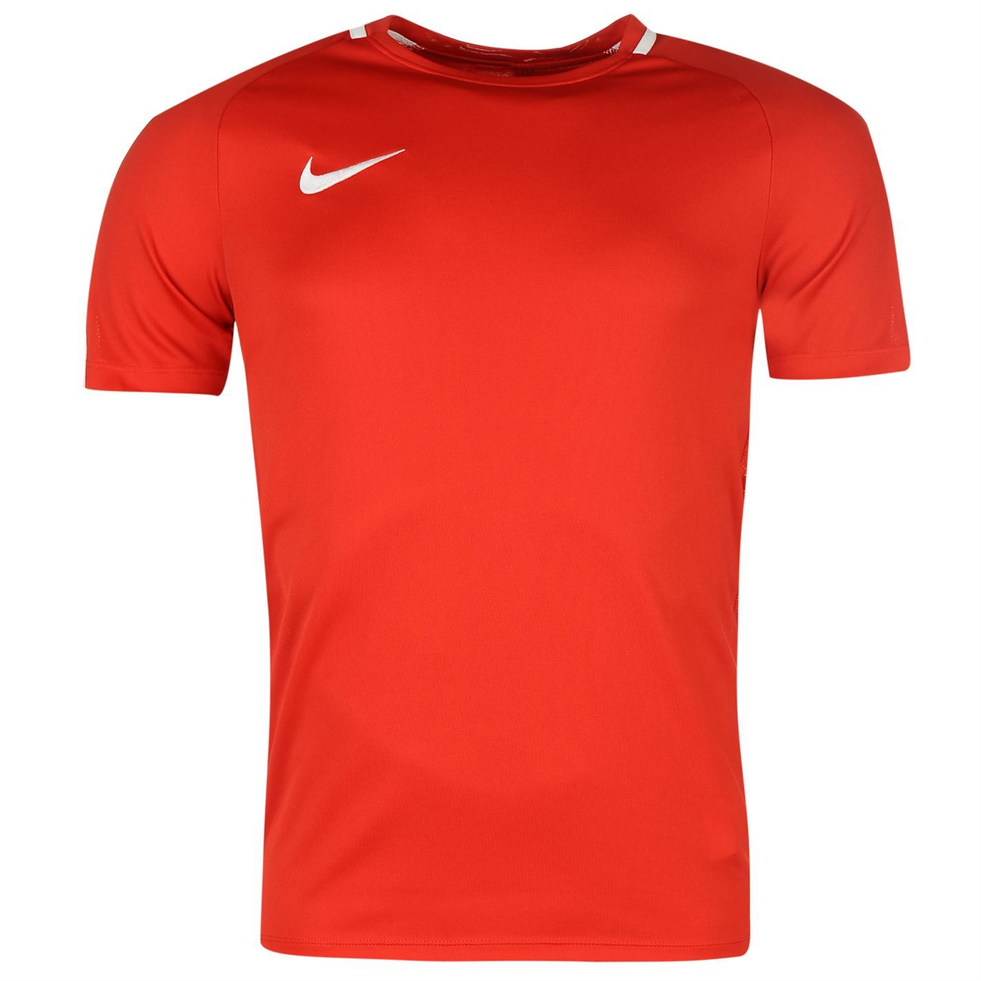 Íncubo sí mismo Monótono  Nike Academy Training T-Shirt Mens Red Football Soccer Top Tee Shirt   eBay