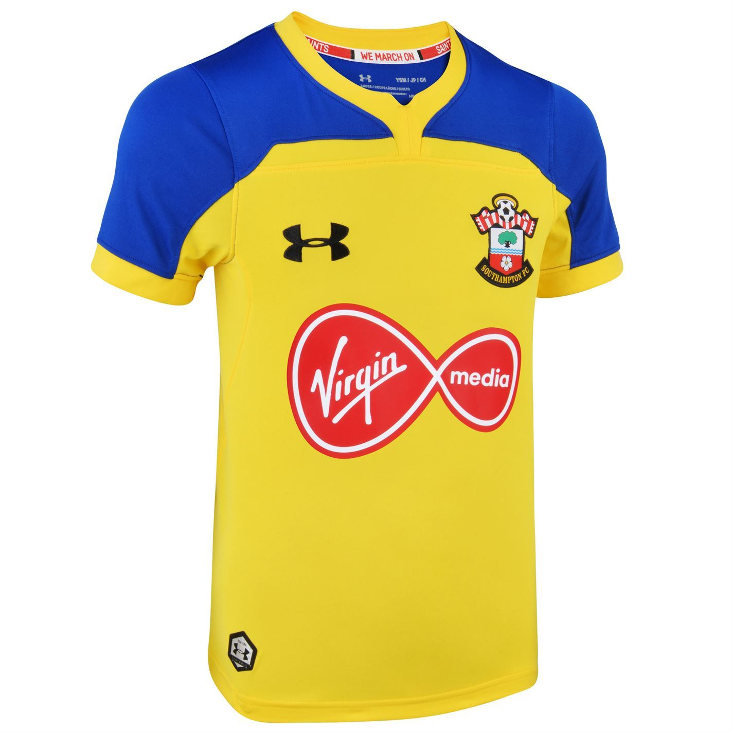 purchase cheap c41f2 43913 Details about Under Armour Southampton Away Jersey 2018 2019 Juniors Yellow  Football Soccer