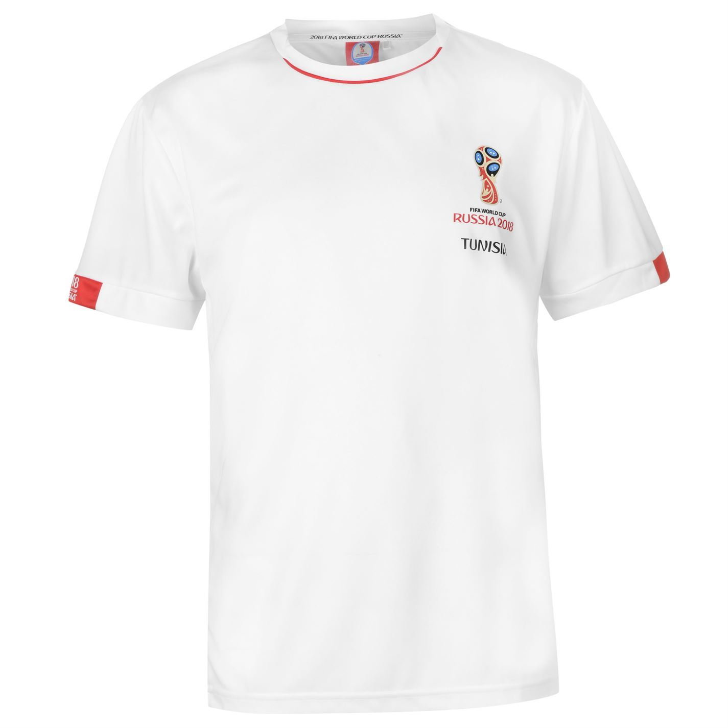 f51e6514f ... FIFA World Cup 2018 Tunisia T-Shirt Mens White Football Soccer Tee Shirt  ...