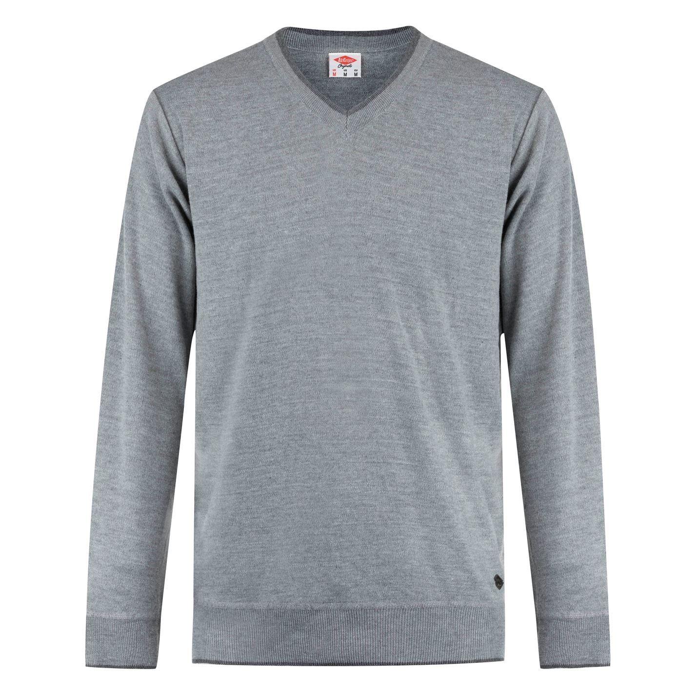 Lee-Cooper-Cuello-en-V-sueter-pulover-jumper-Top-Para-Hombre miniatura 8