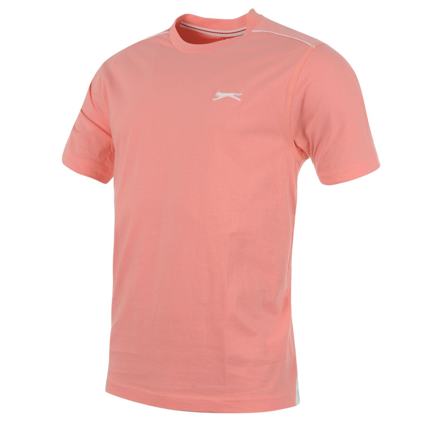 7fdb060668 Slazenger Plain T Shirt Mens Pink Top Tee Tshirt | eBay