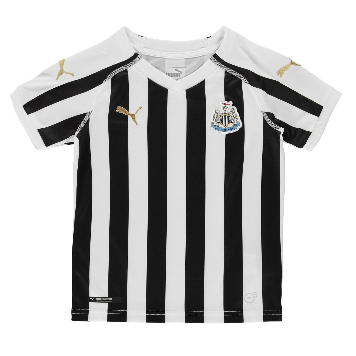 ... Puma Newcastle United Home Jersey 2018 2019 Juniors Blk Wht Football  Soccer Top ... 165c216b3