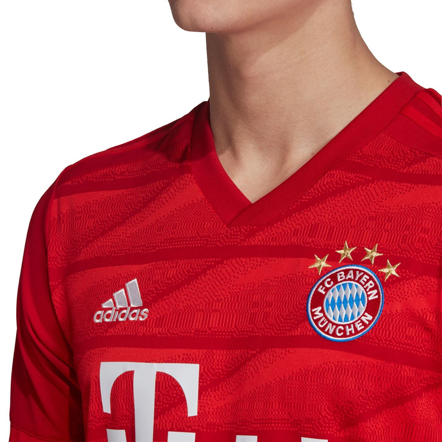 Détails sur Adidas FC Bayern Maillot Domicile 2019 2020 Hommes Rouge Football Haut Jersey