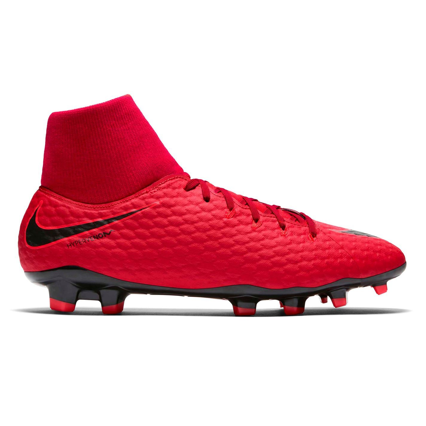 0ee608e88ea ... Nike Hypervenom Phelon DF FG Firm Ground Football Boots Mens Red Soccer  Cleats ...
