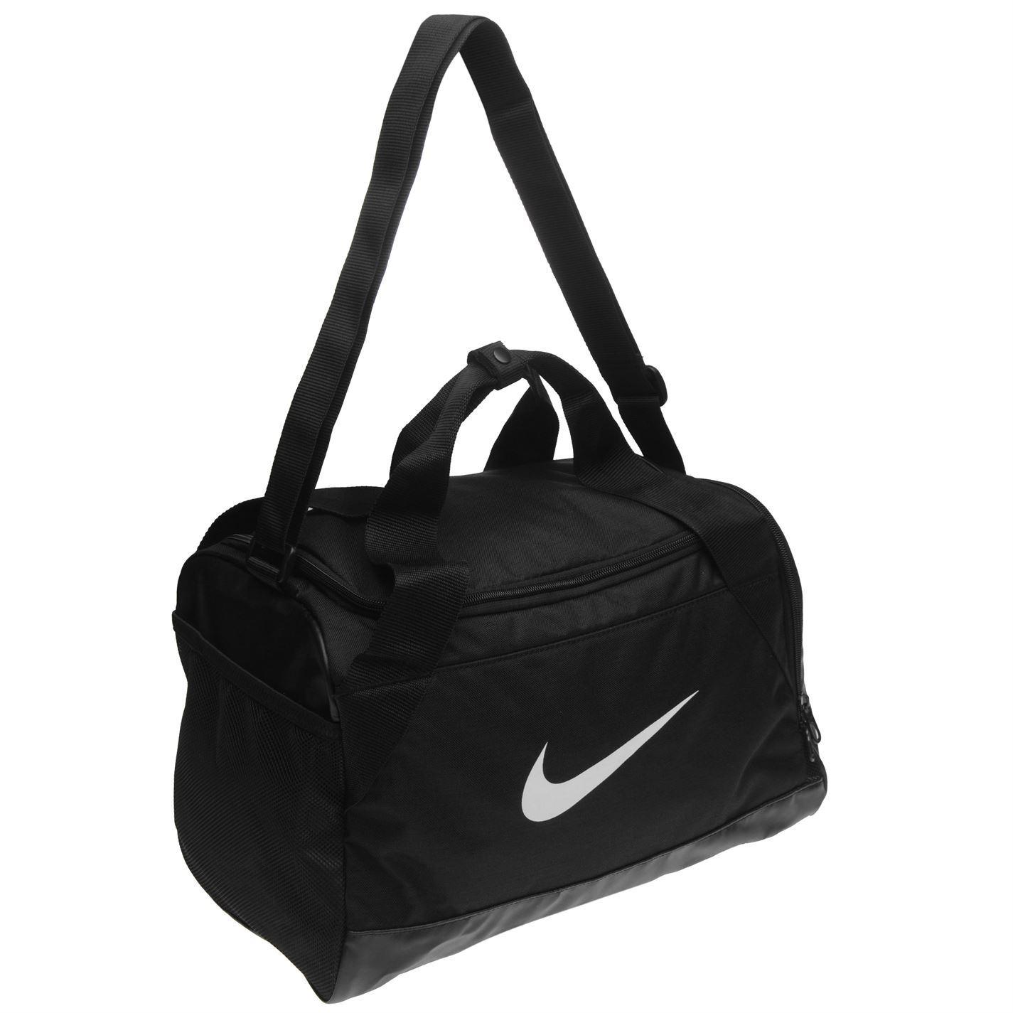 ... Nike Brasilia XS Grip Sports Holdall Black White Gym Kit Bag Carryall  ... e624bb3a33851