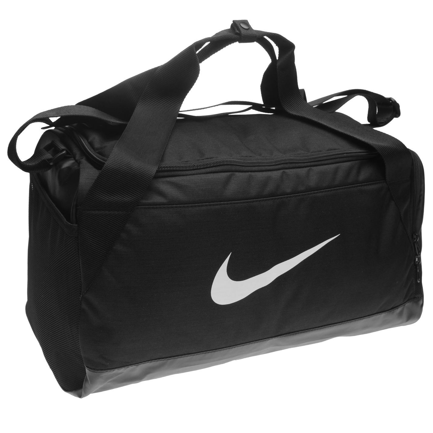 Details about Nike Brasilia Small Grip Sports Holdall Black Gym Kit Bag  Carryall 260478ce26123