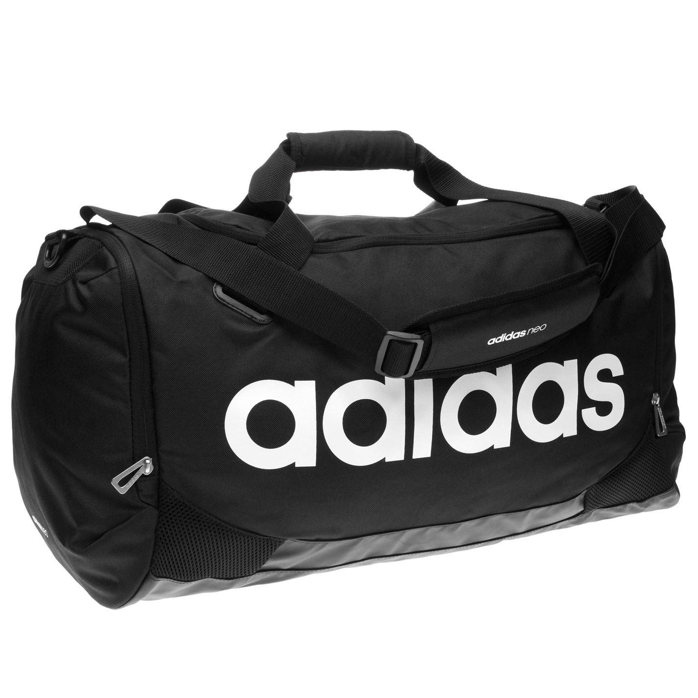 ... Adidas Linear Team Bag Medium Black Sports Gymbag Kitbag ... fc6e7695b1279