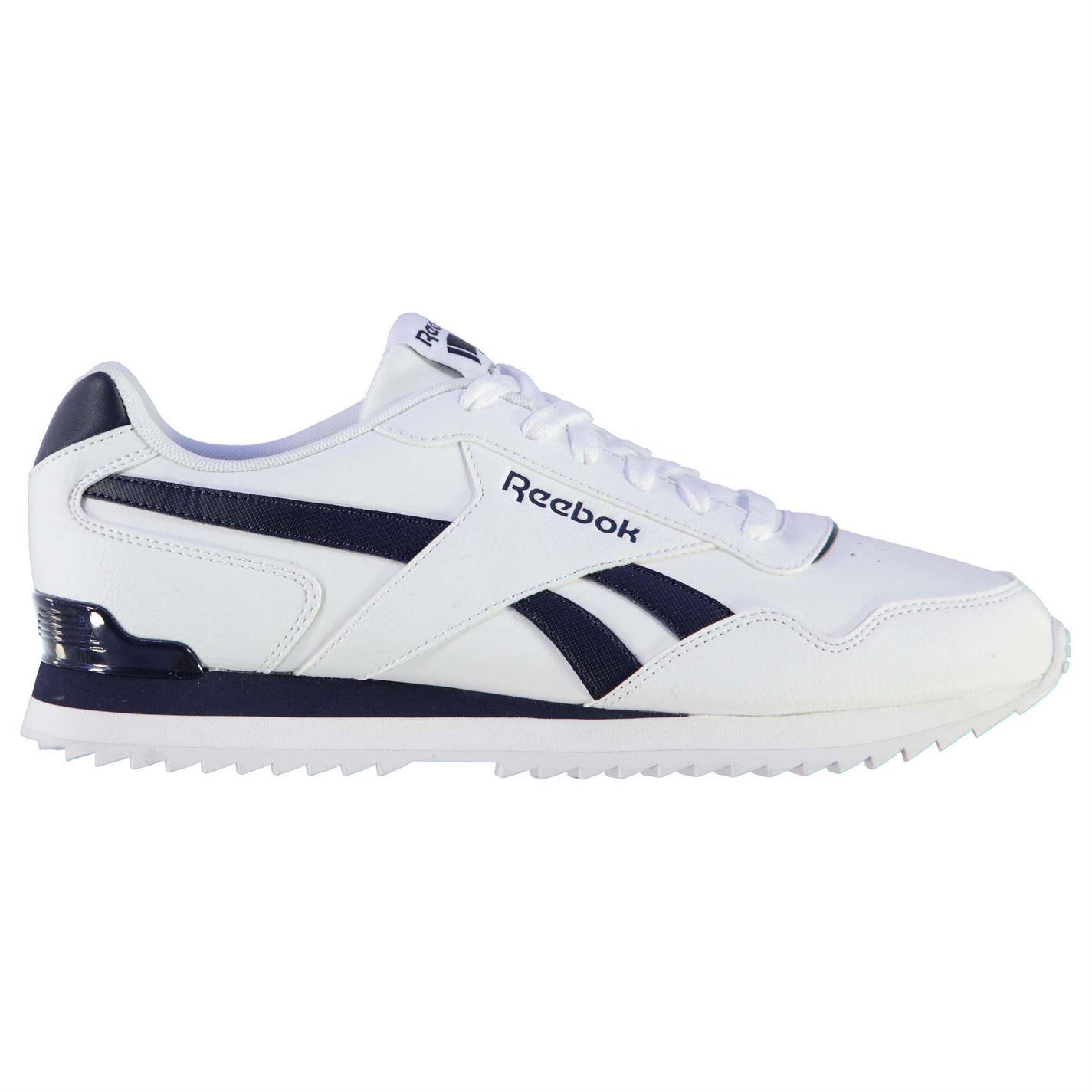Reebok Glide Rip Clip Trainers Uomo White/Navy Sports Scarpe Scarpe da Ginnastica Footwear