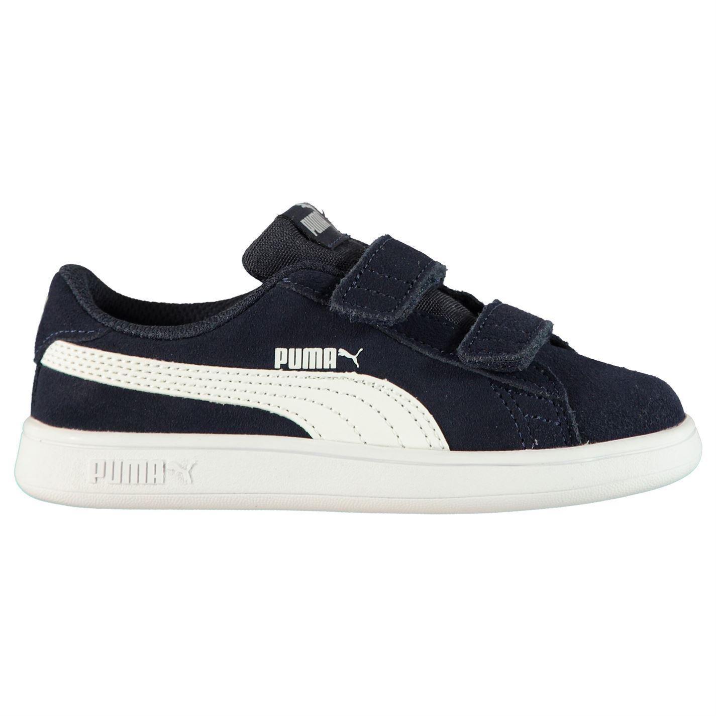 Détails sur Puma Smash Daim Infant Garçons Baskets Décontractées Bleu Marine Chaussures Baskets afficher le titre d'origine