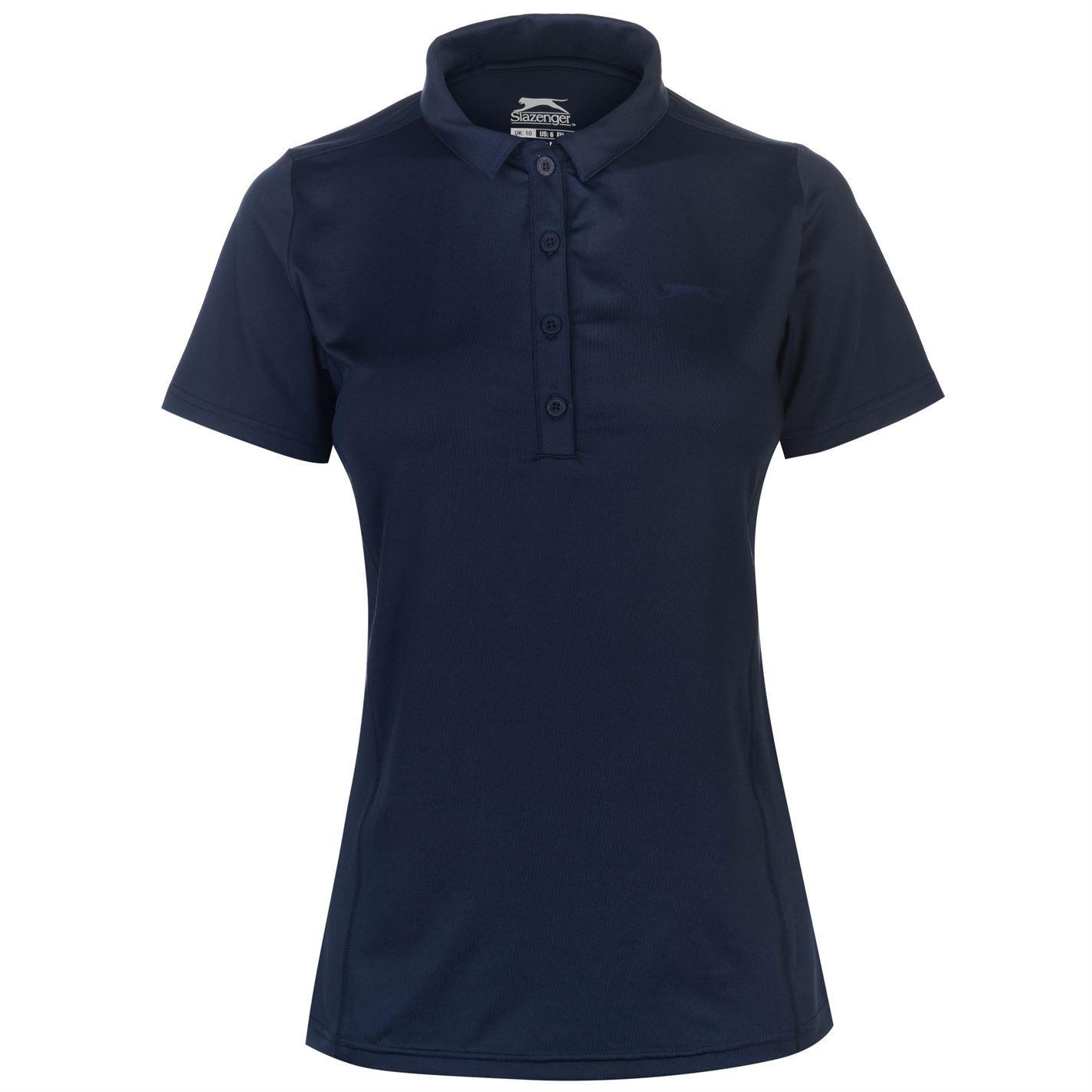 Slazenger-Plain-Golf-Polo-Shirt-Womens-T-Shirt-Top-Tee-Activewear miniature 3