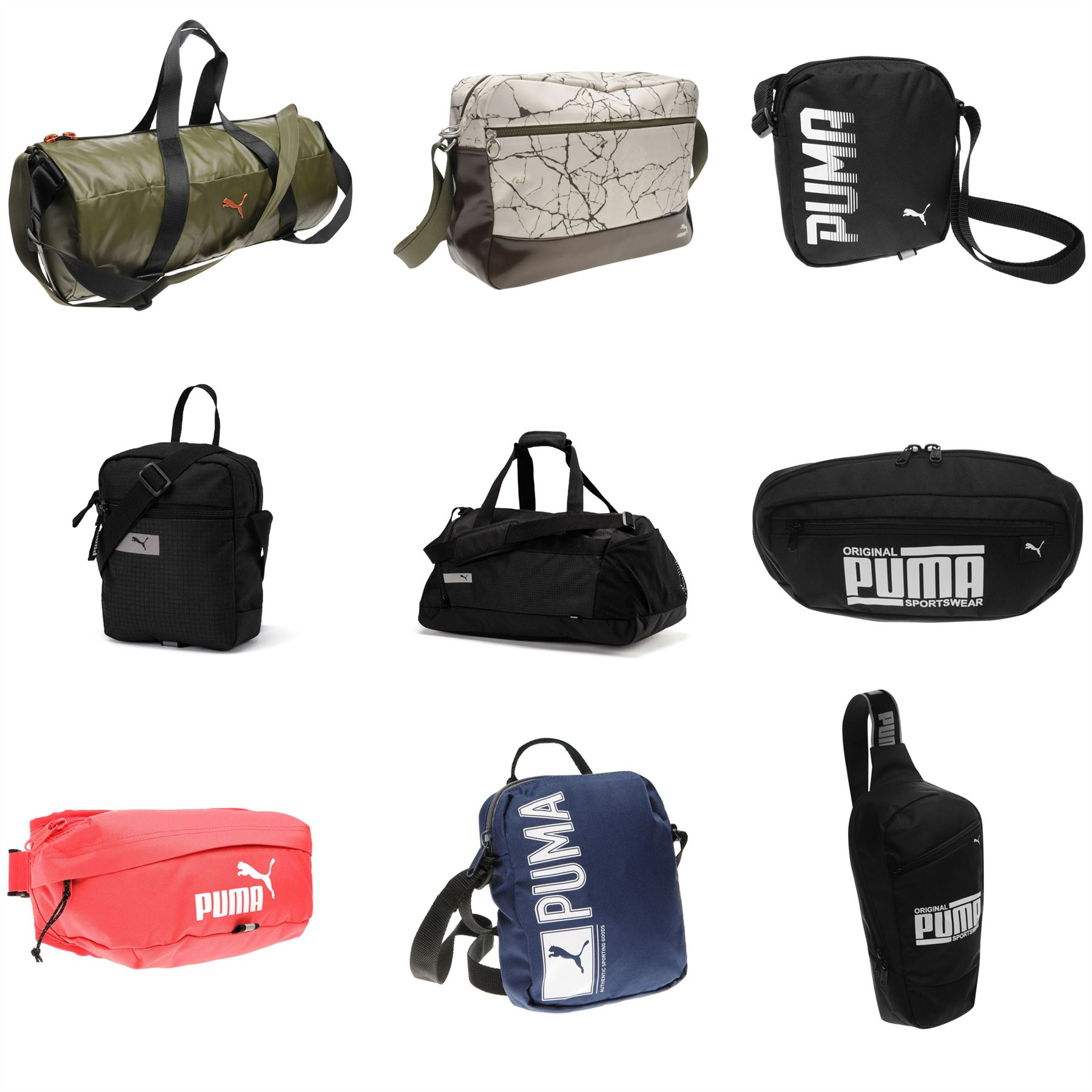 bc38324aae1c Details about Puma Bags Waist Pack Gadget Bag Holdall Cross Body Bags  Shoulder Bags