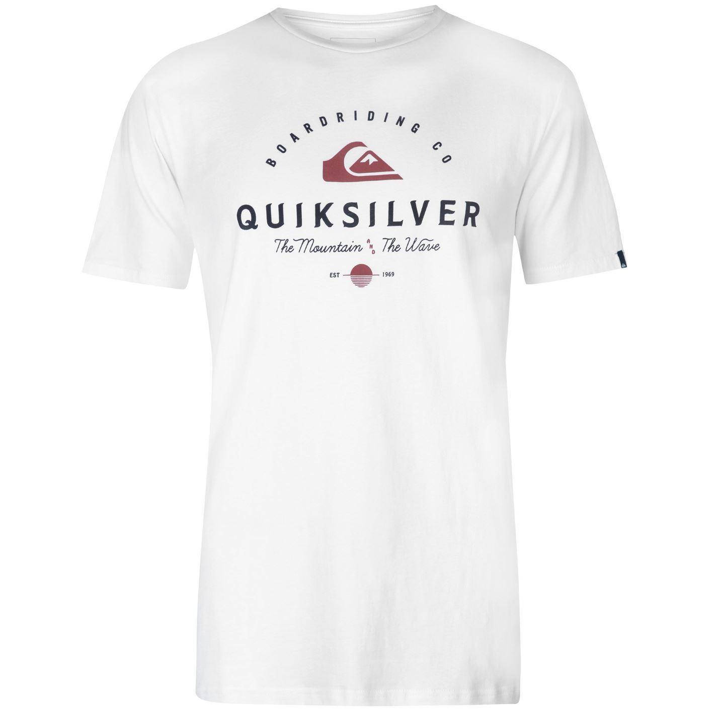 Quiksilver-Working-Man-T-Shirt-Mens-Tee-Shirt-Top thumbnail 8