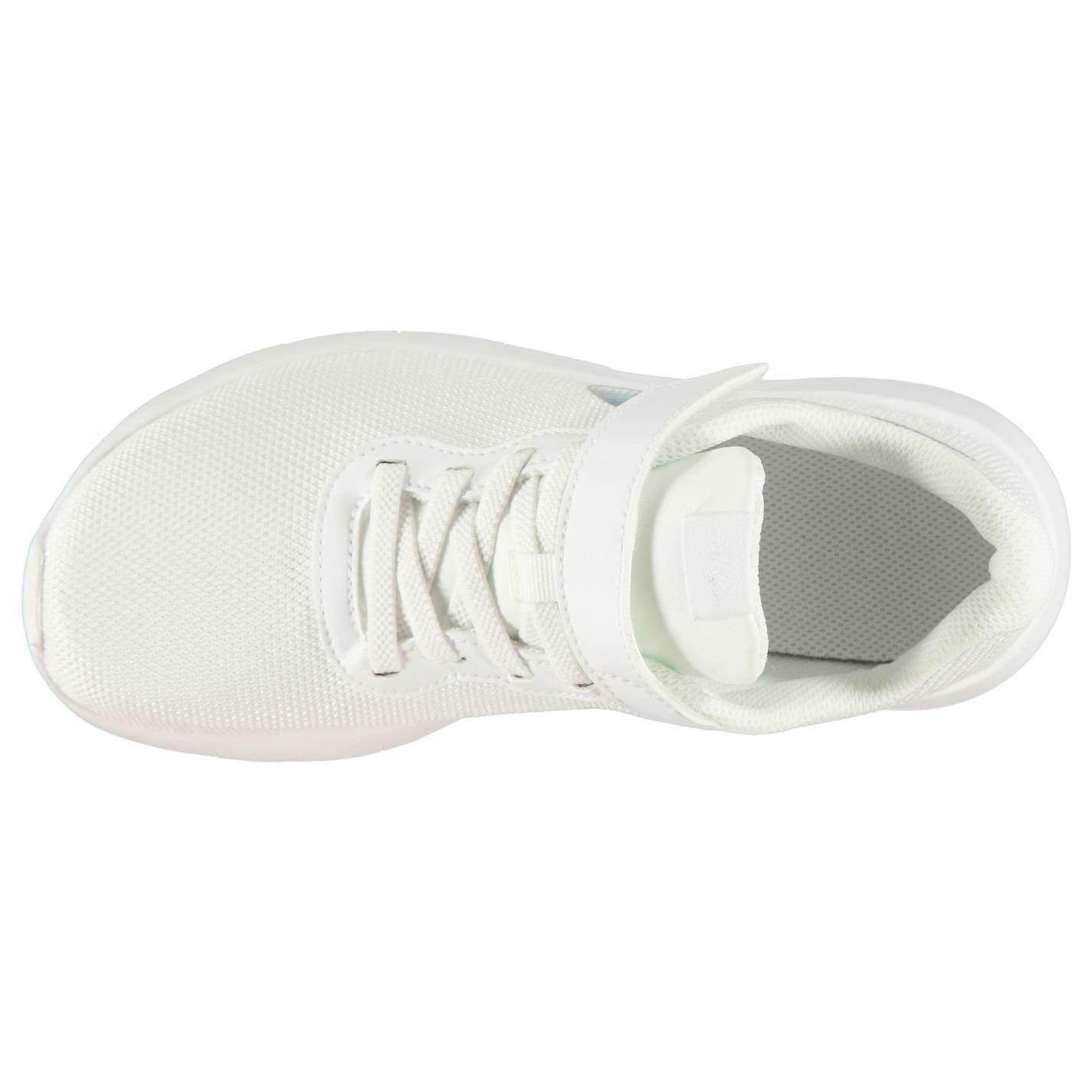 Detalles de Nike Tanjun Zapatillas Infantil Niña Blanco Zapatos Azules Calzado