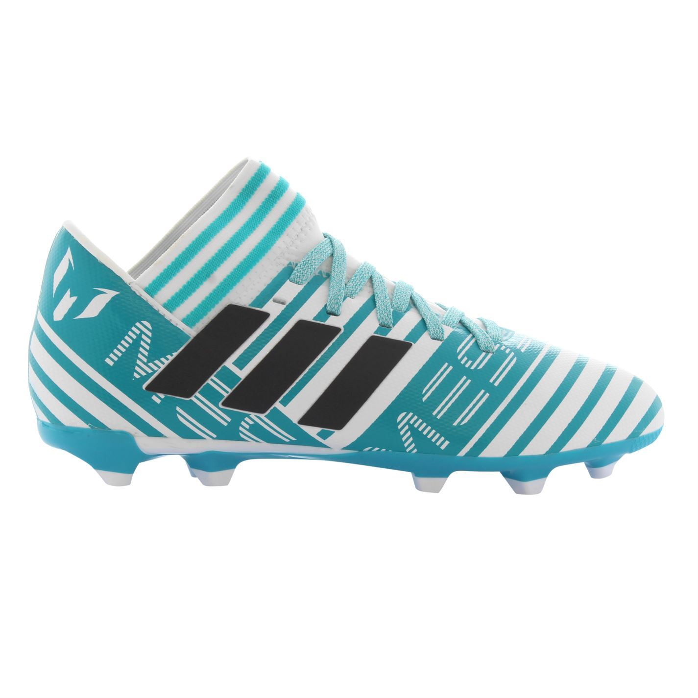 dcdcb32f1536 adidas Nemeziz Messi 17.3 Firm Ground Football Boots Juniors Blue Soccer  Cleats