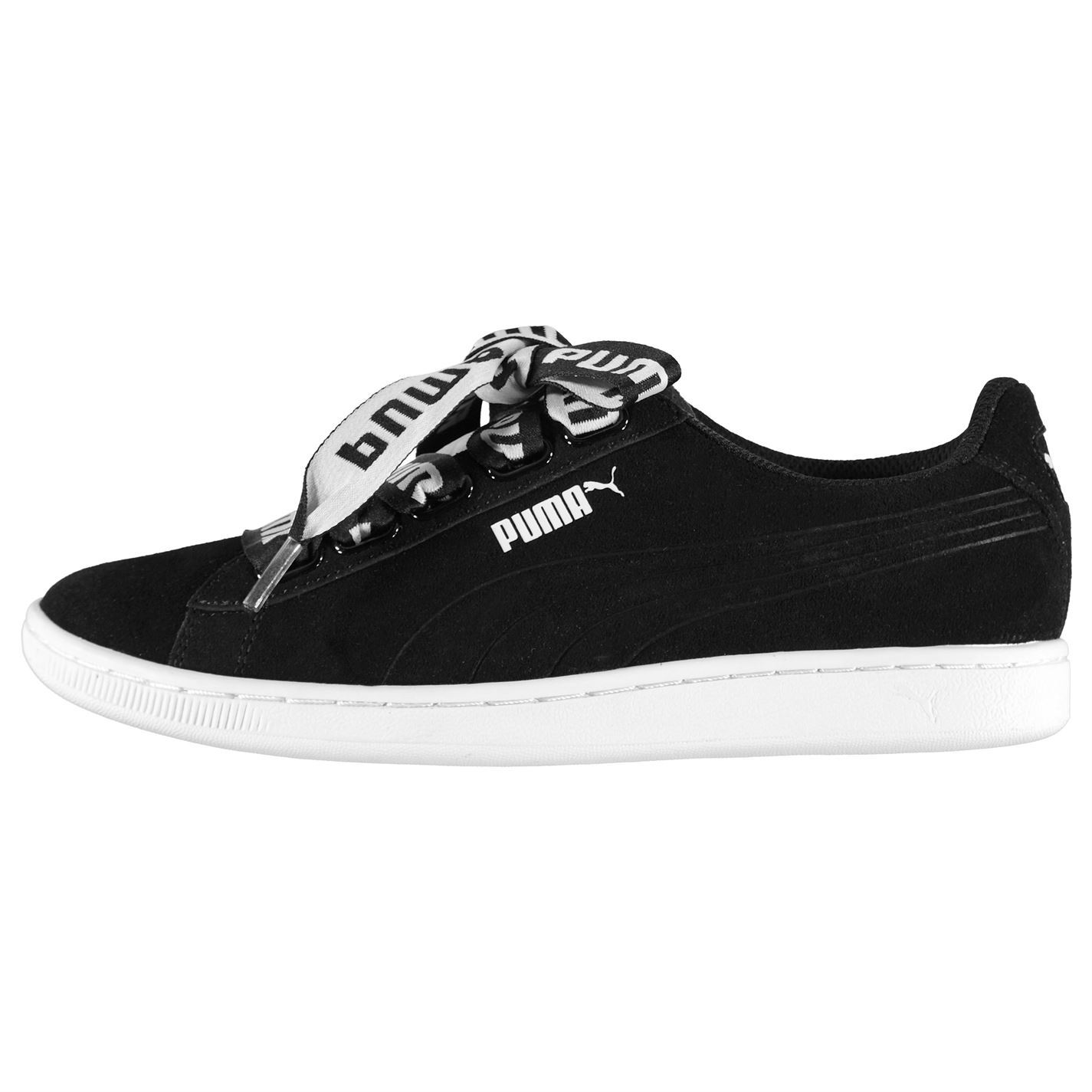 8d87c3abad0 ... Puma Vikky Ribbon Trainers Womens Black Sports Sneakers Trainers ...